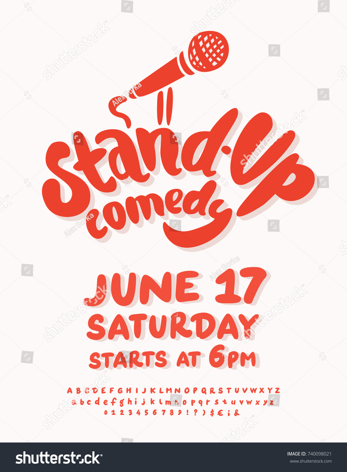 Stand Comedy Poster Template Stock Vector Royalty Free 740098021