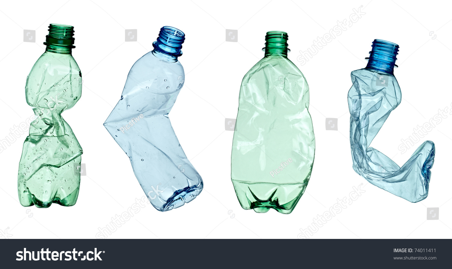 Collection of empty used plastic bottles on white for What to do with empty plastic bottles