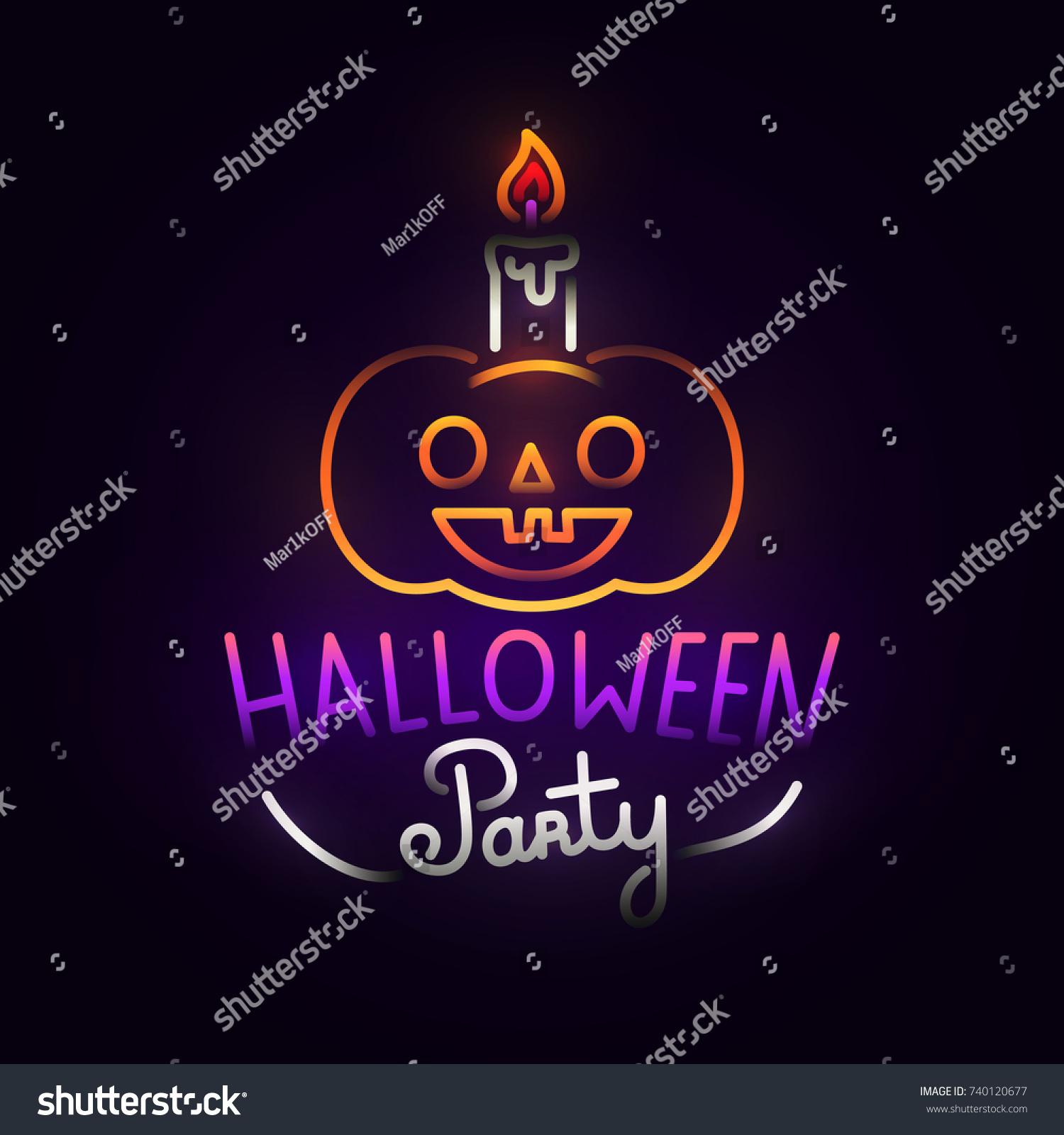 Pumpkin Abstract Logo. Night Party. Happy Halloween. Logo, Label, Emblem