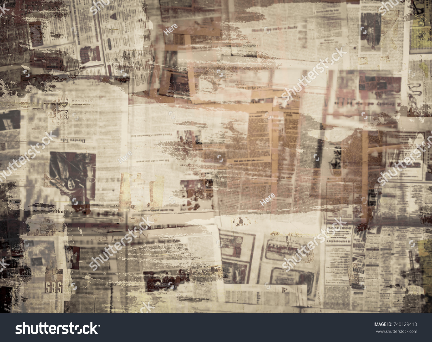 scratched paper texture old newspaper background stock photo (edit