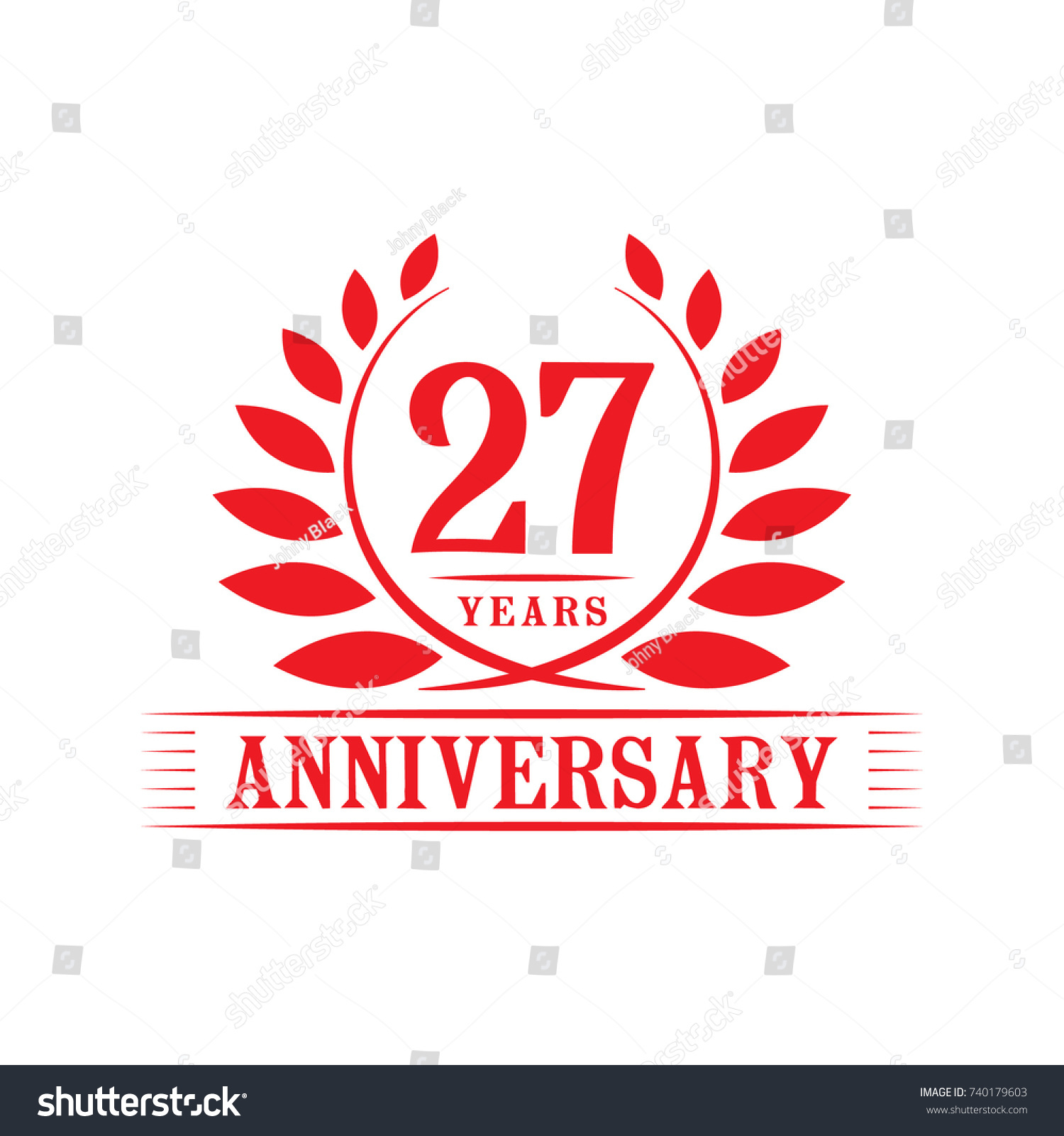 27 years anniversary logo template stock vector 740179603 shutterstock 27 years anniversary logo template biocorpaavc Images
