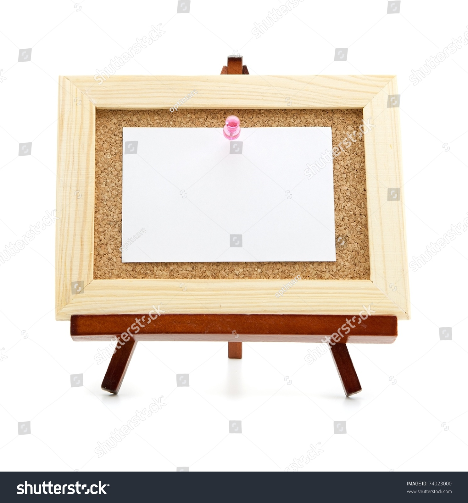 miniature easel and cork board blank memo paper for save to a lightbox