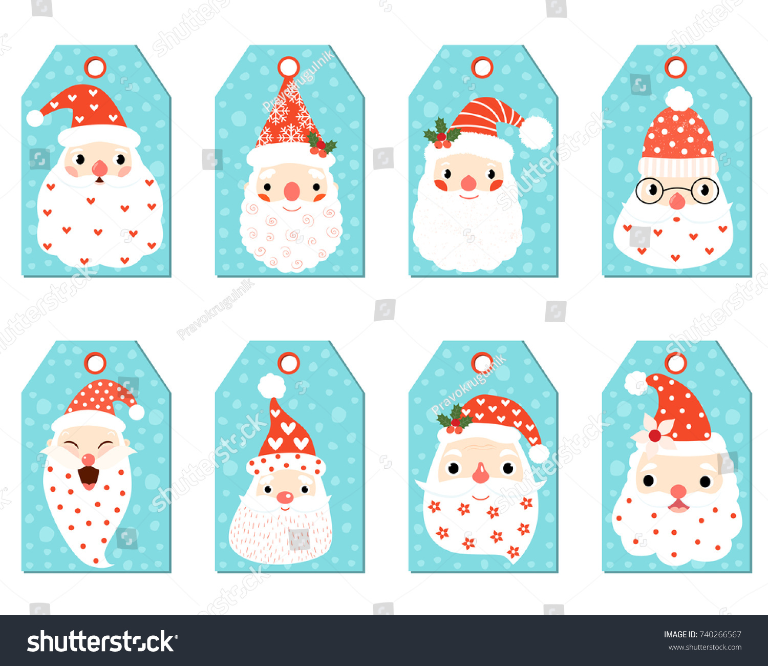 cute christmas gift tags funny hipster stock vector royalty free