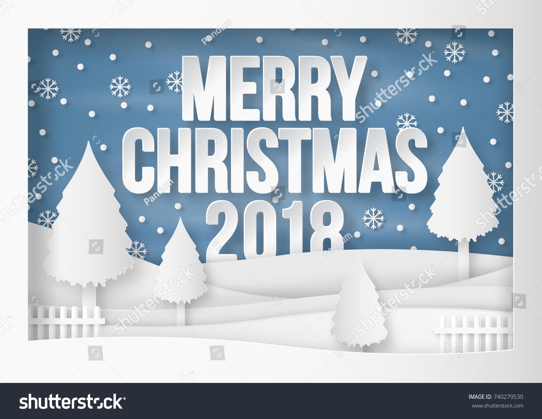 Illustration Merry Christmas 2018 Winter Season Stock Vector ...