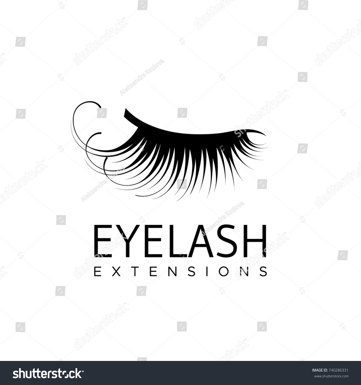 Eyelash extension logo vector illustration modern stock vector eyelash extension logo vector illustration in a modern style magicingreecefo Image collections