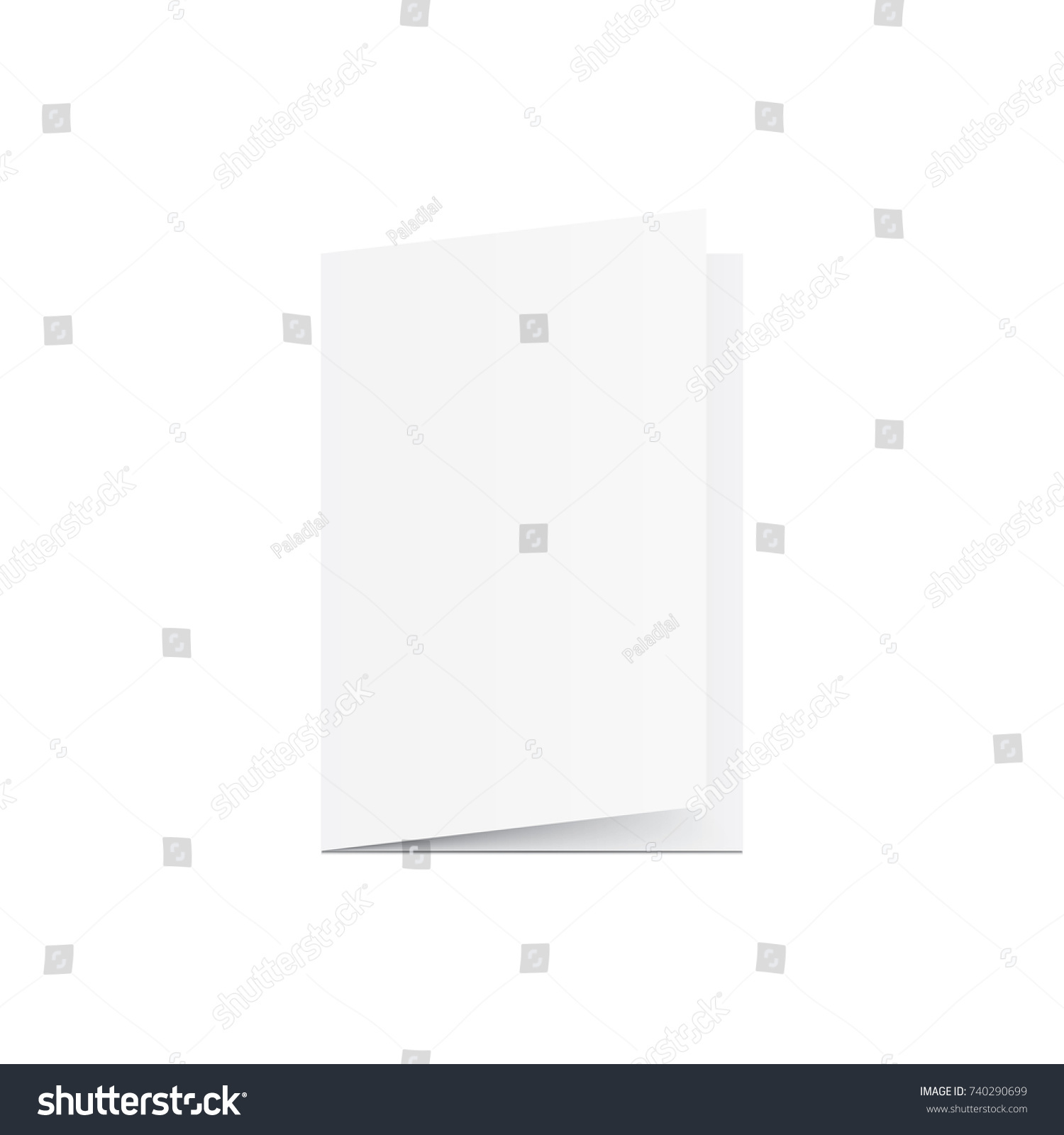 Blank Greeting Card Mockup Vector On Stock Vector Royalty Free