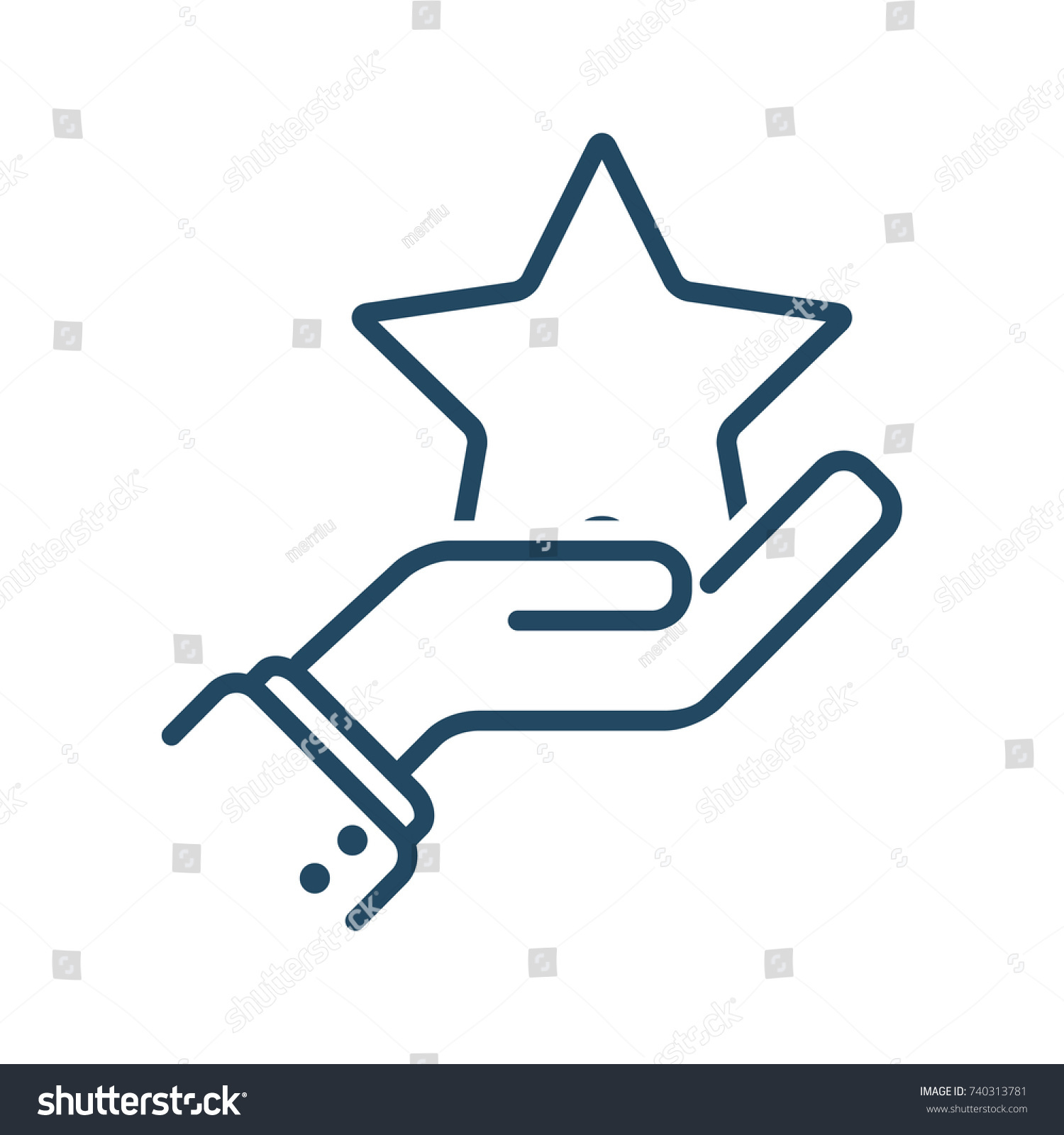 human hand holding star vector icon stock vector hd royalty free rh shutterstock com medical vector defined medical vector defined