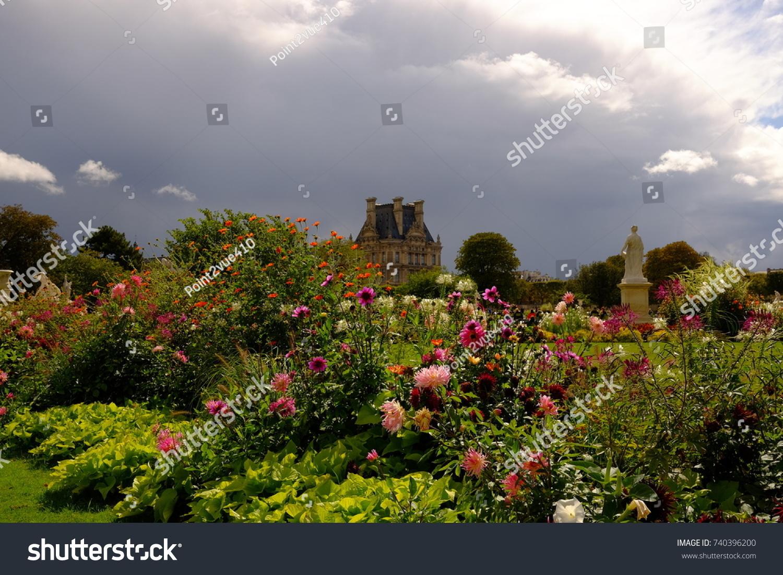 Flowers Garden Autumn Paris France Stock Photo (Edit Now) 740396200 ...