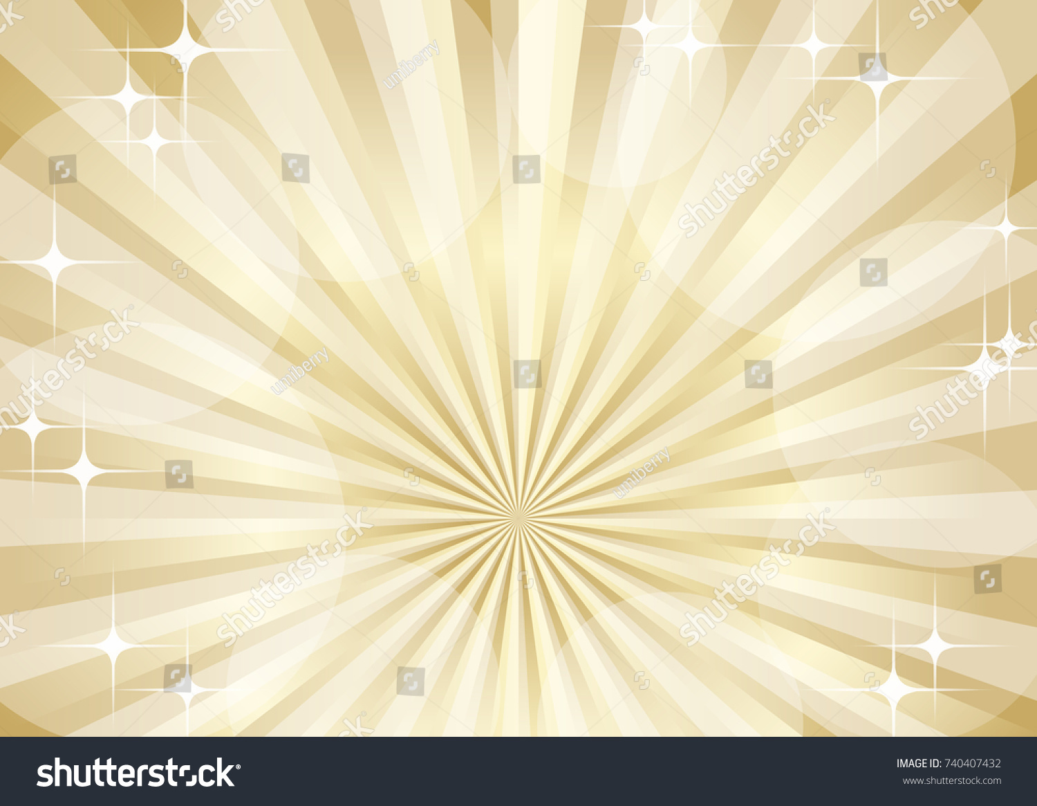 Radial Glowing Golden Background Stock Vector (Royalty Free