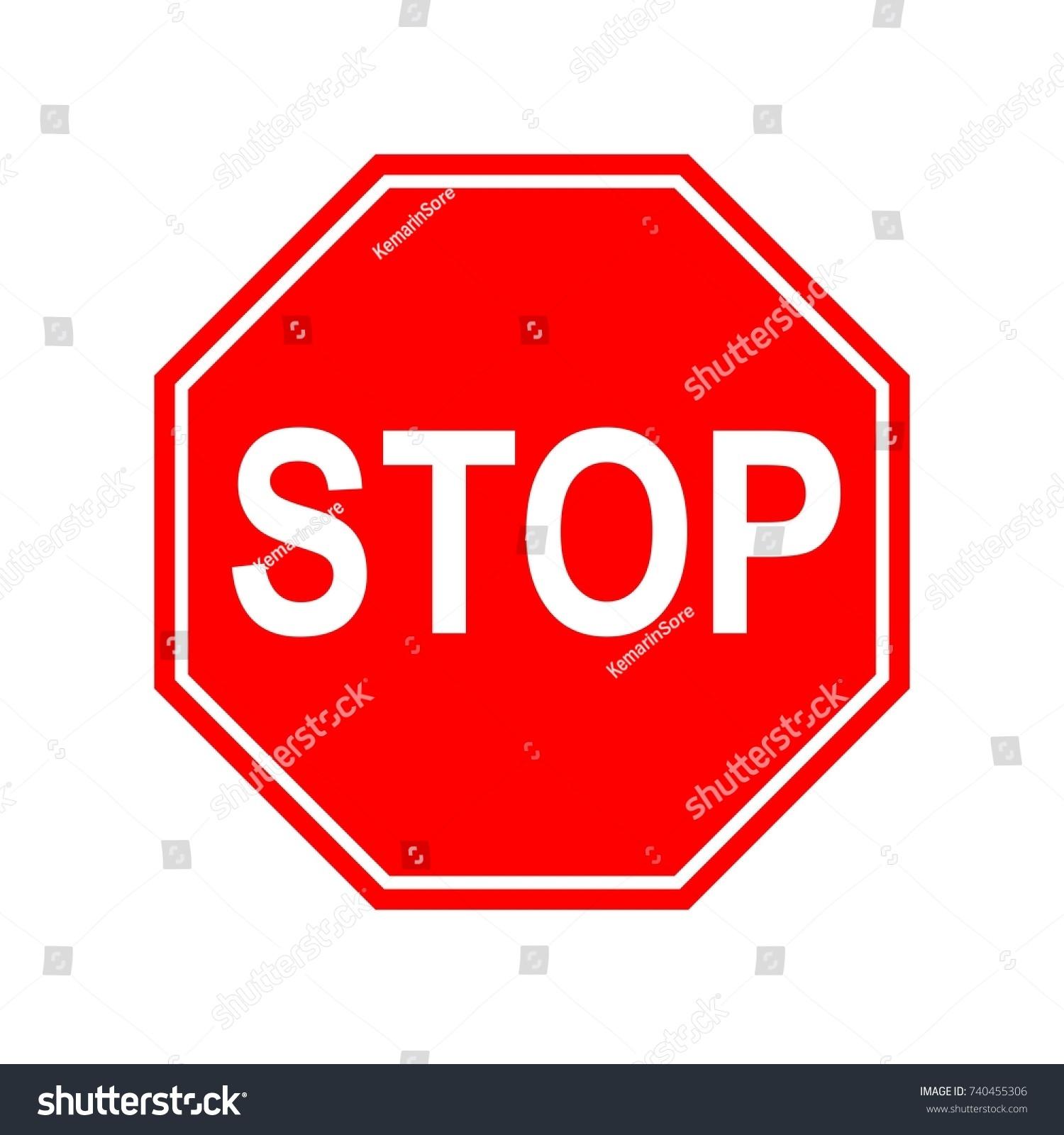 Traffic Sign Stop Road Sign Vector Illustration Ez Canvas