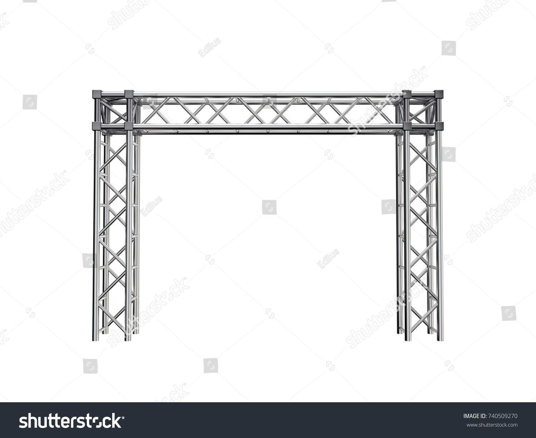 Truss Construction Isolated On White Background Stockillustration ...
