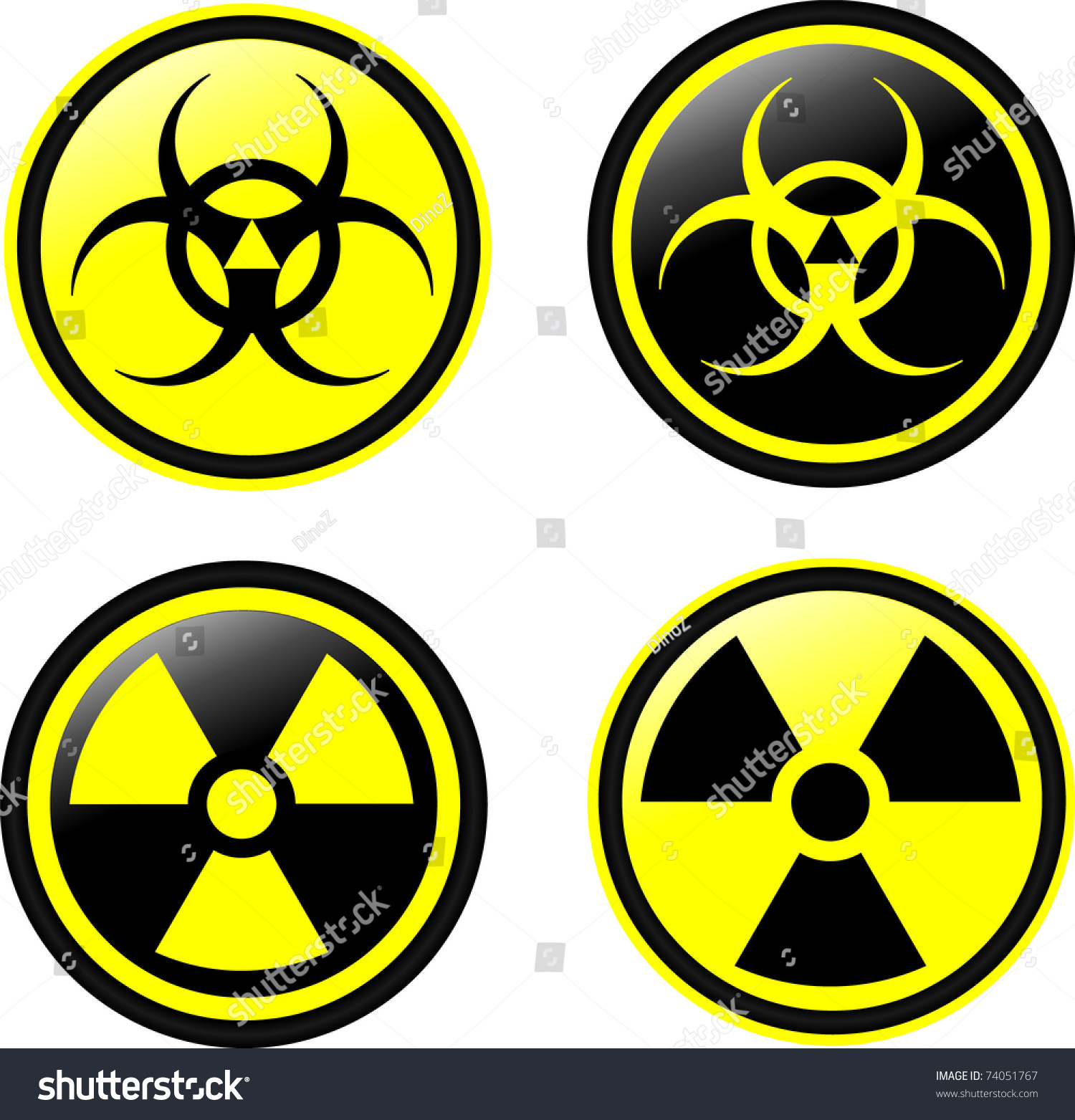 Vector Symbols Radiation Stock Vector 74051767 Shutterstock