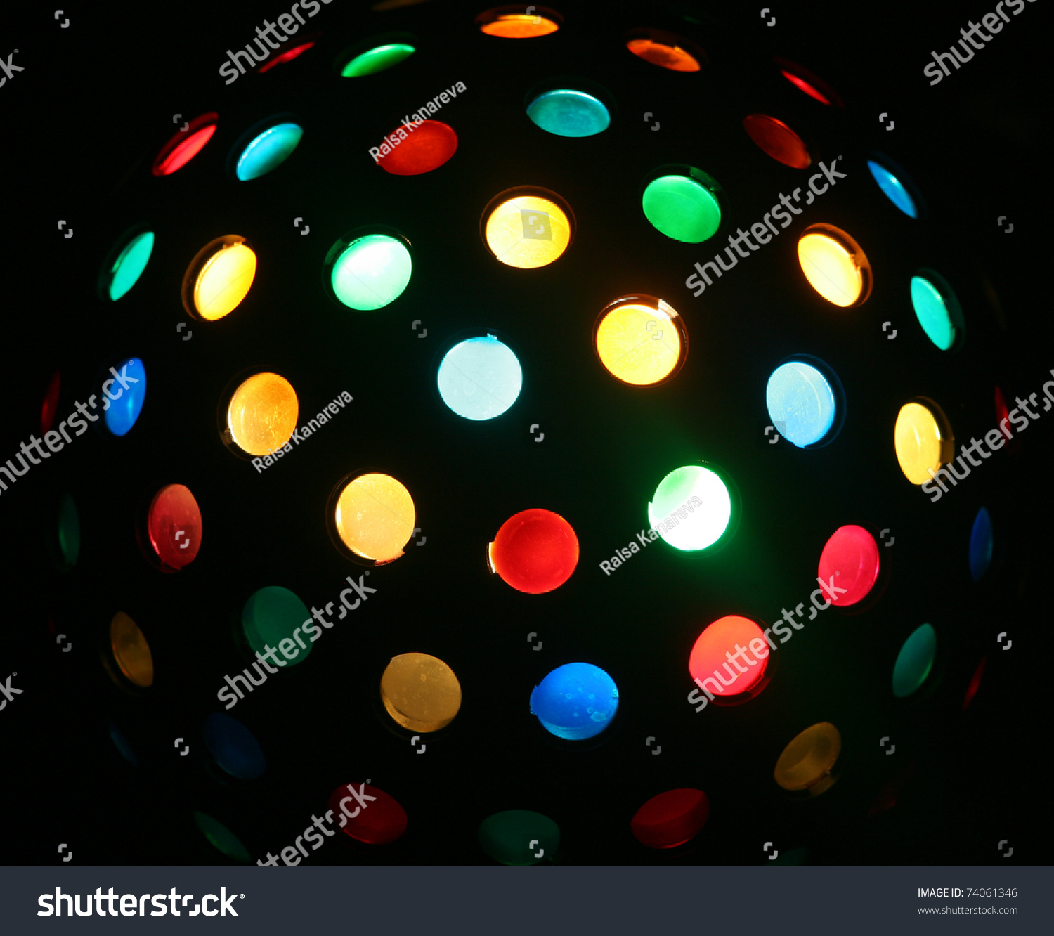 Color disco ball stock photo 74061346 shutterstock for Disco ball coloring page