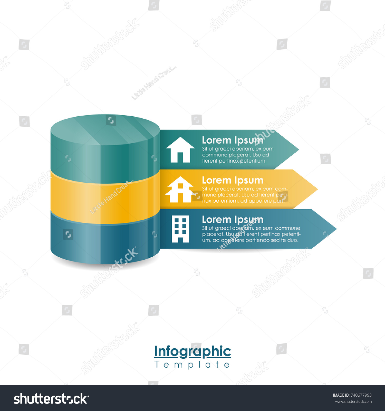 property real estate infographic template blue stock vector