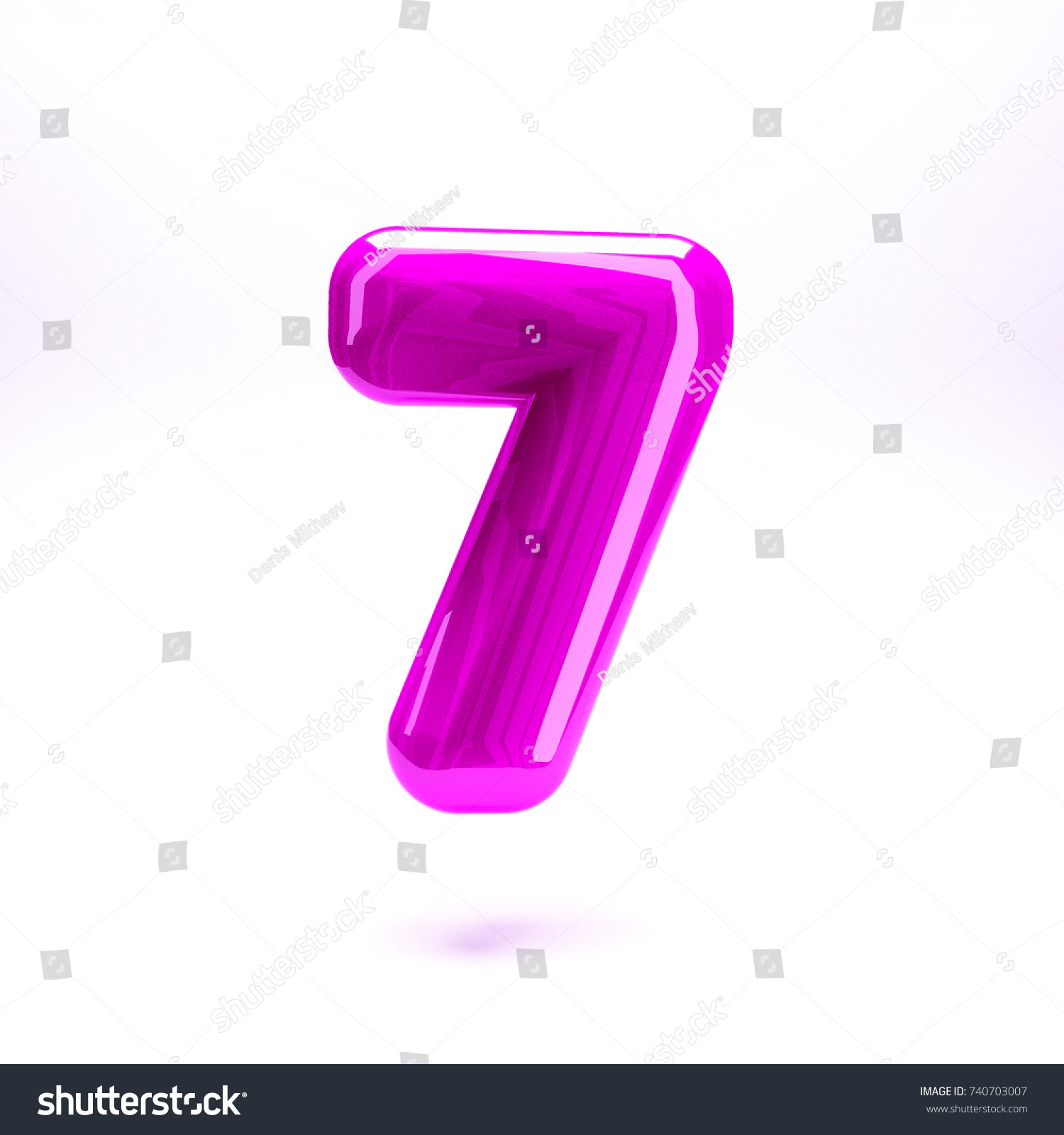 Pink Fuchsia Glossy Celebrate Letter Number Stock Illustration ...