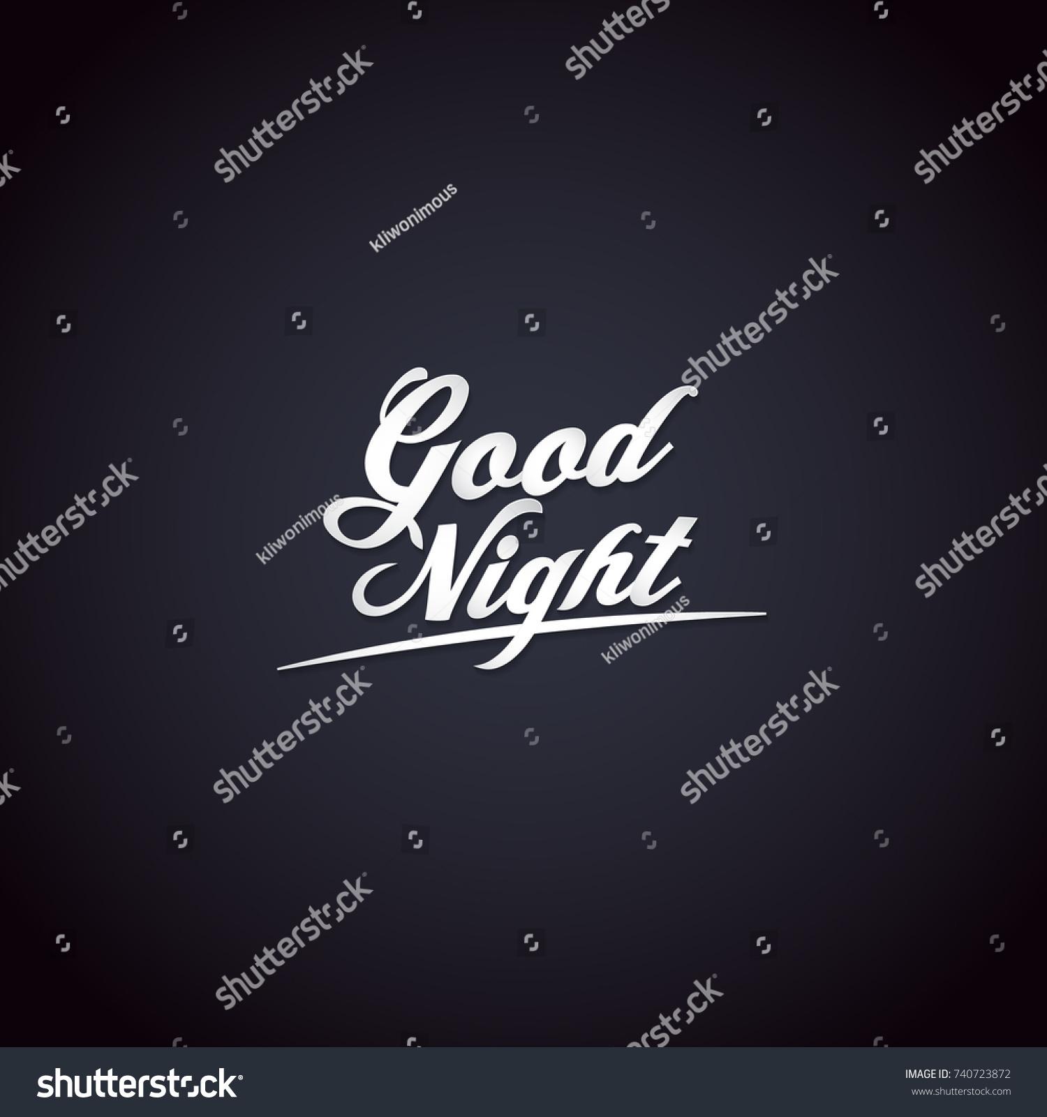 Good Night Greeting Card Vector Illustration Stock Vector Royalty