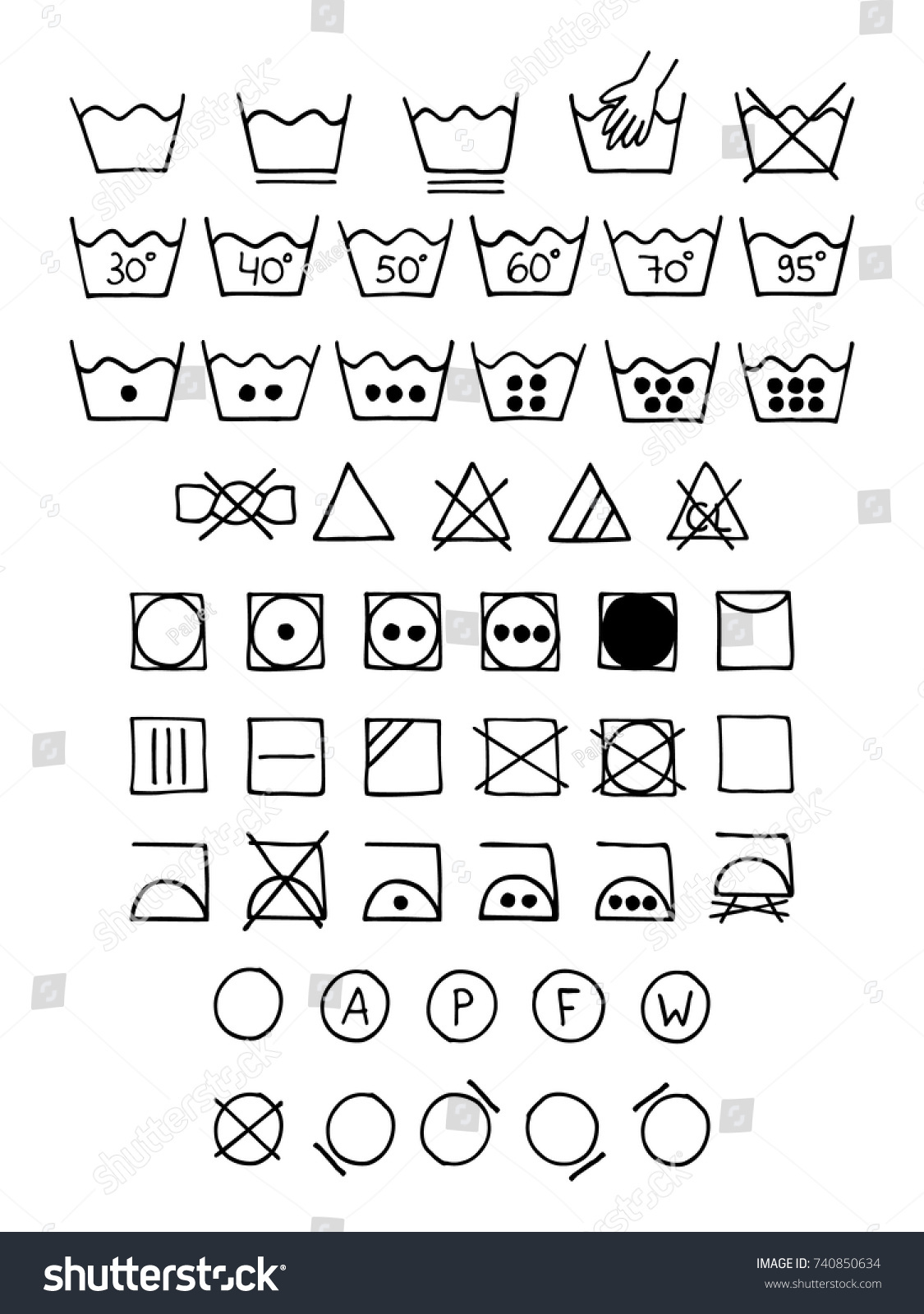 Laundry instructions to print the label for your own laundry laundry instructions doodle laundry symbols hand drawn scribble washing icons clothing and fabric maintenance instructions buycottarizona