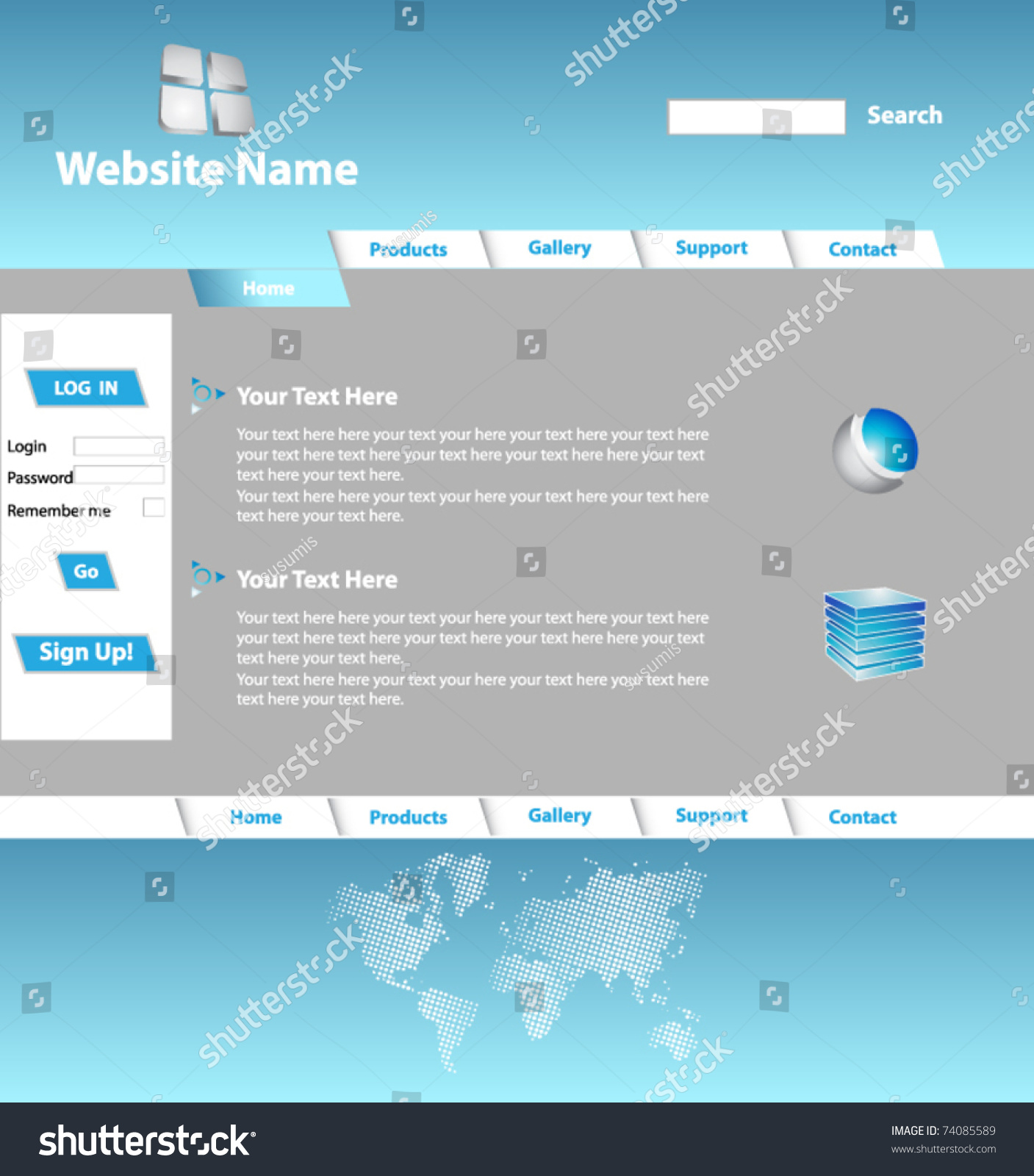 Lovely Login Web Page Template Ideas - Professional Resume Example ...