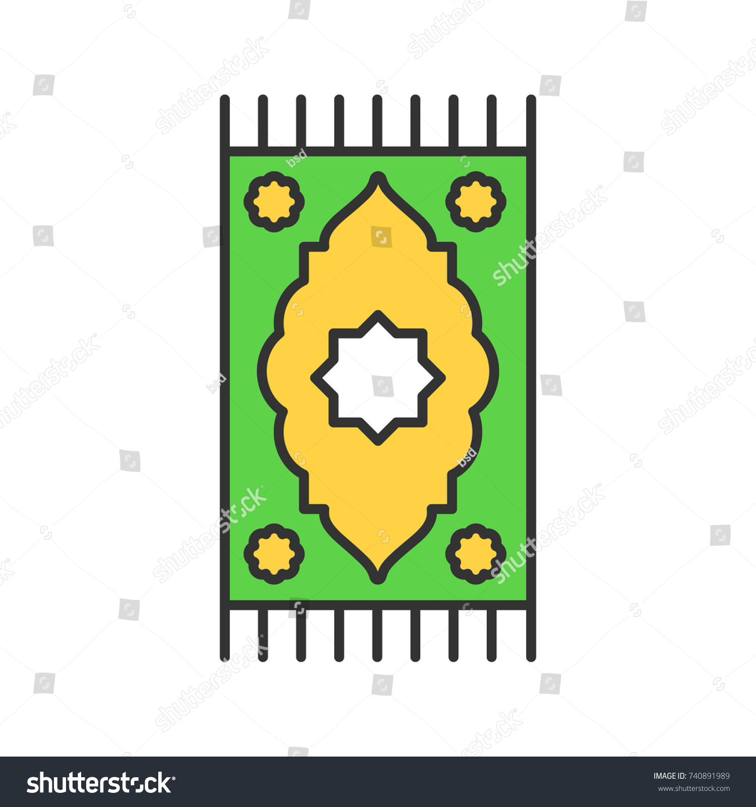 Praying mat color icon islamic culture stock vector 740891989 praying mat color icon islamic culture carpet isolated vector illustration biocorpaavc