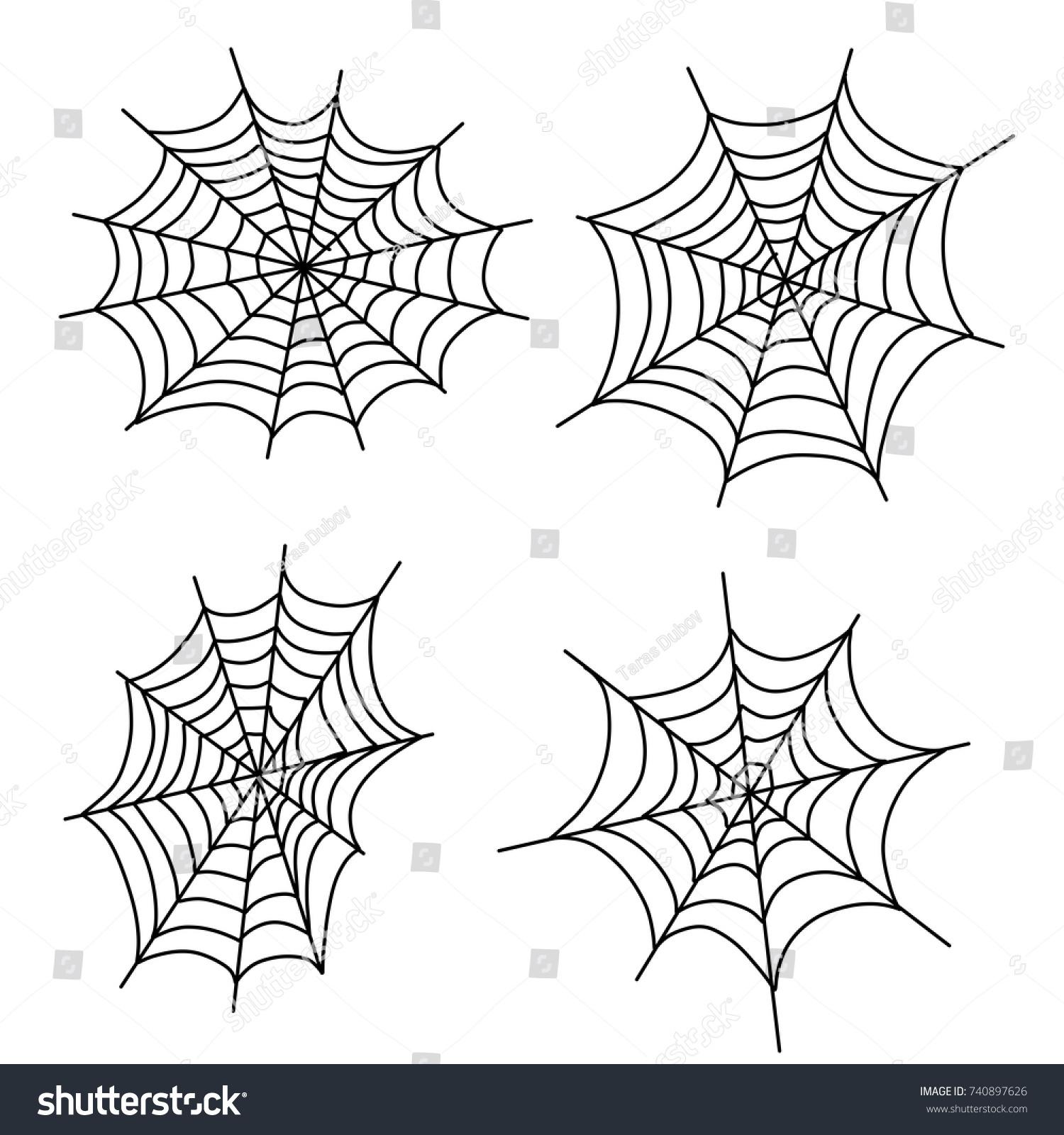 cartoon illustration decoration halloween spiderweb spider stock