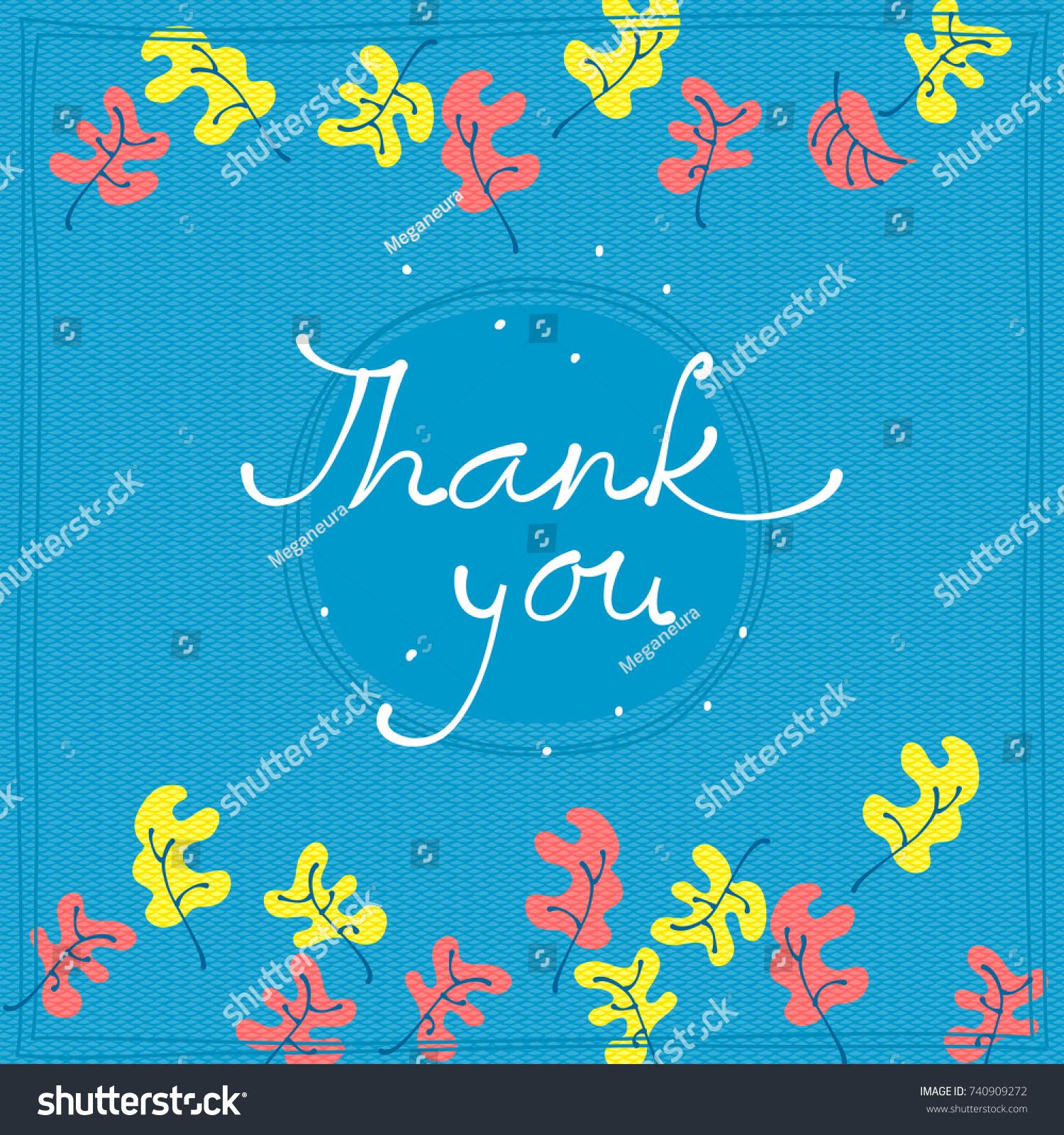 thank you card design template simple stock vector 740909272