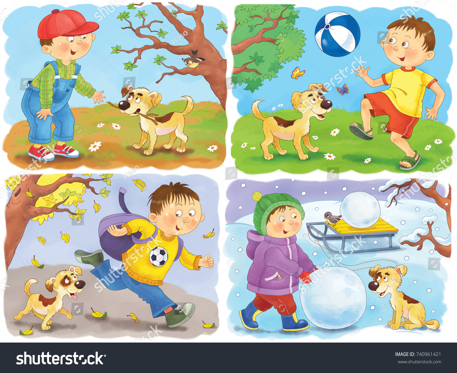 four seasons spring  summer  autumn and winter cartoon characters clipart images cartoon characters clipart free