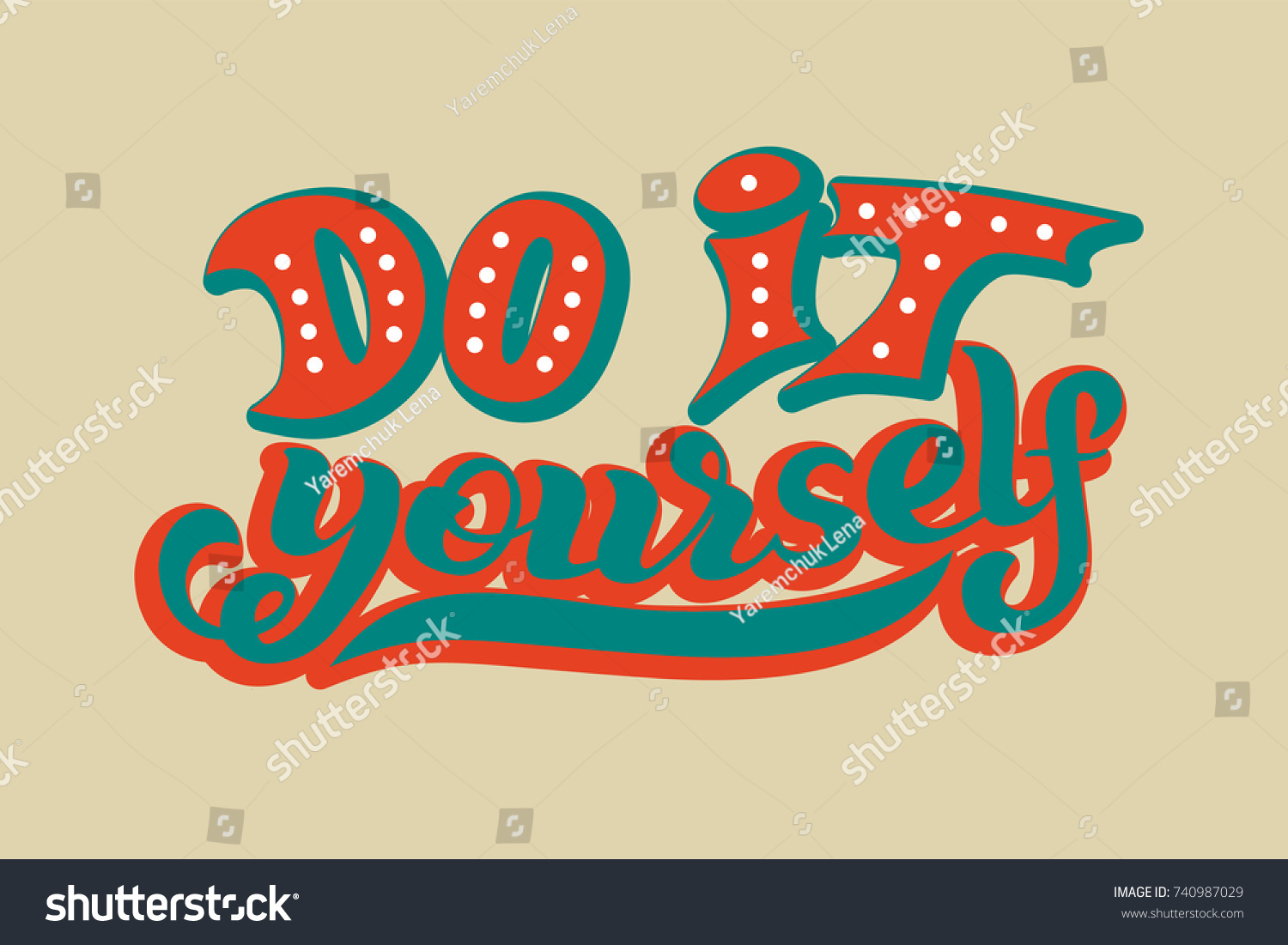 Hand lettering phrase do yourself diy stock vector 740987029 hand lettering phrase do it yourself diy inspirational quote text background solutioingenieria Gallery