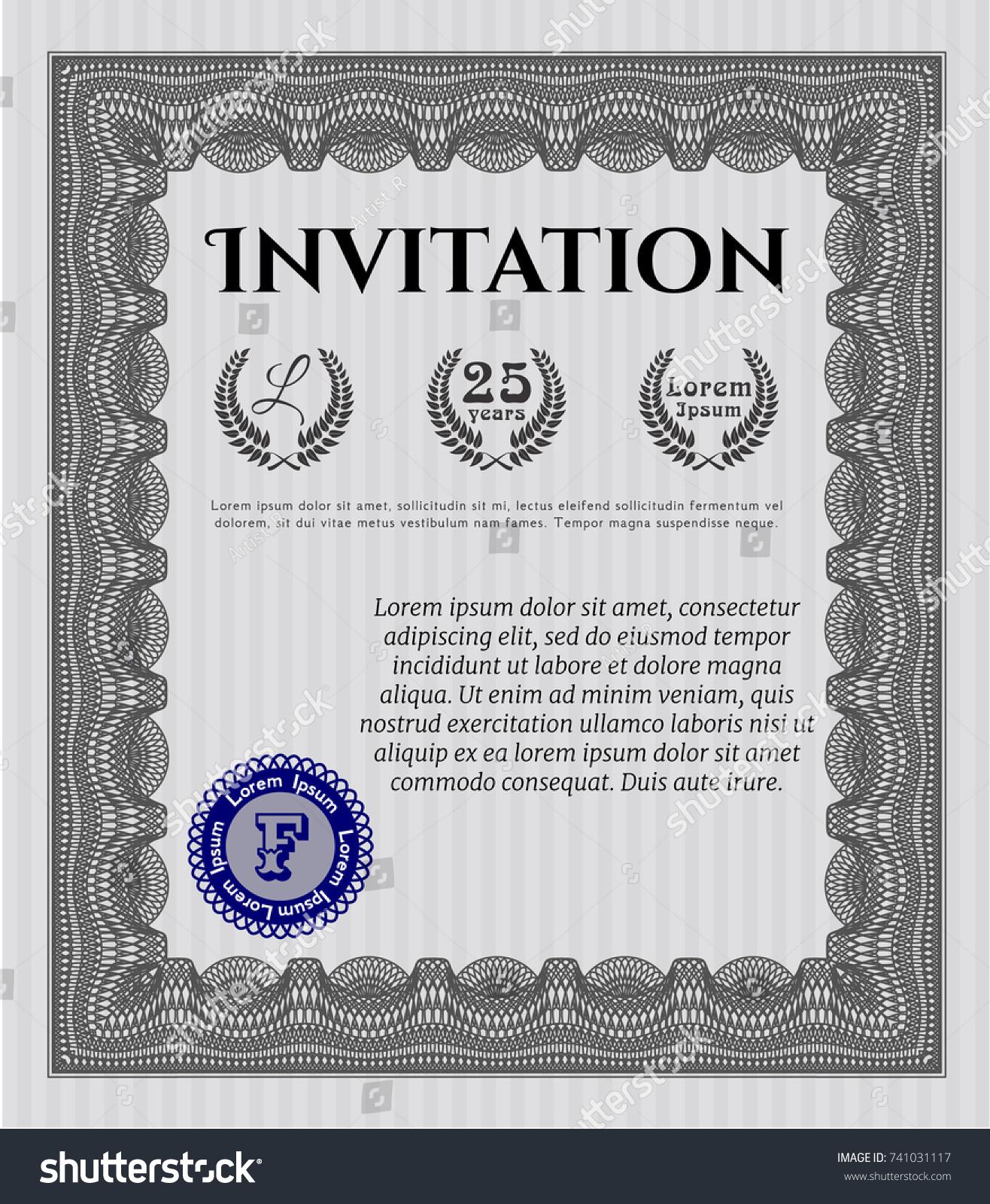 posh invitation template