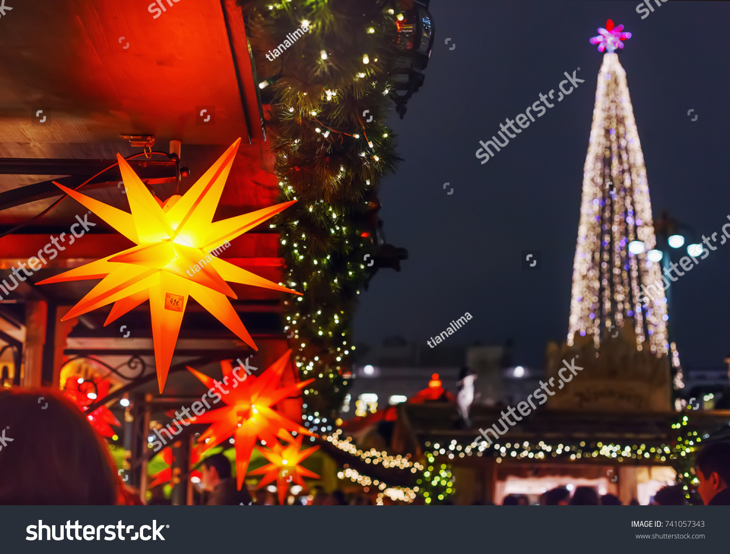 Colorful stars sale lights xmas tree stock photo 741057343 colorful stars sale lights xmas tree stock photo 741057343 shutterstock mozeypictures Image collections