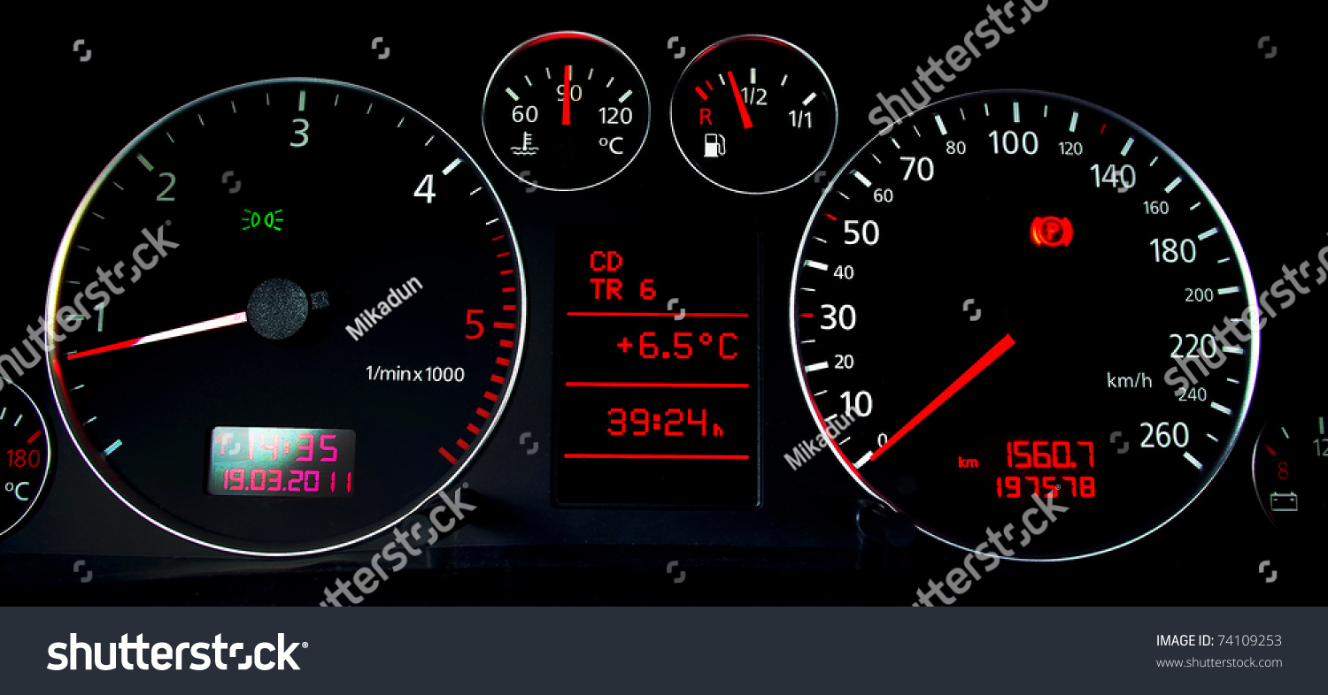 Vehicle Instrument Panel : Car instrument panel stock photo shutterstock