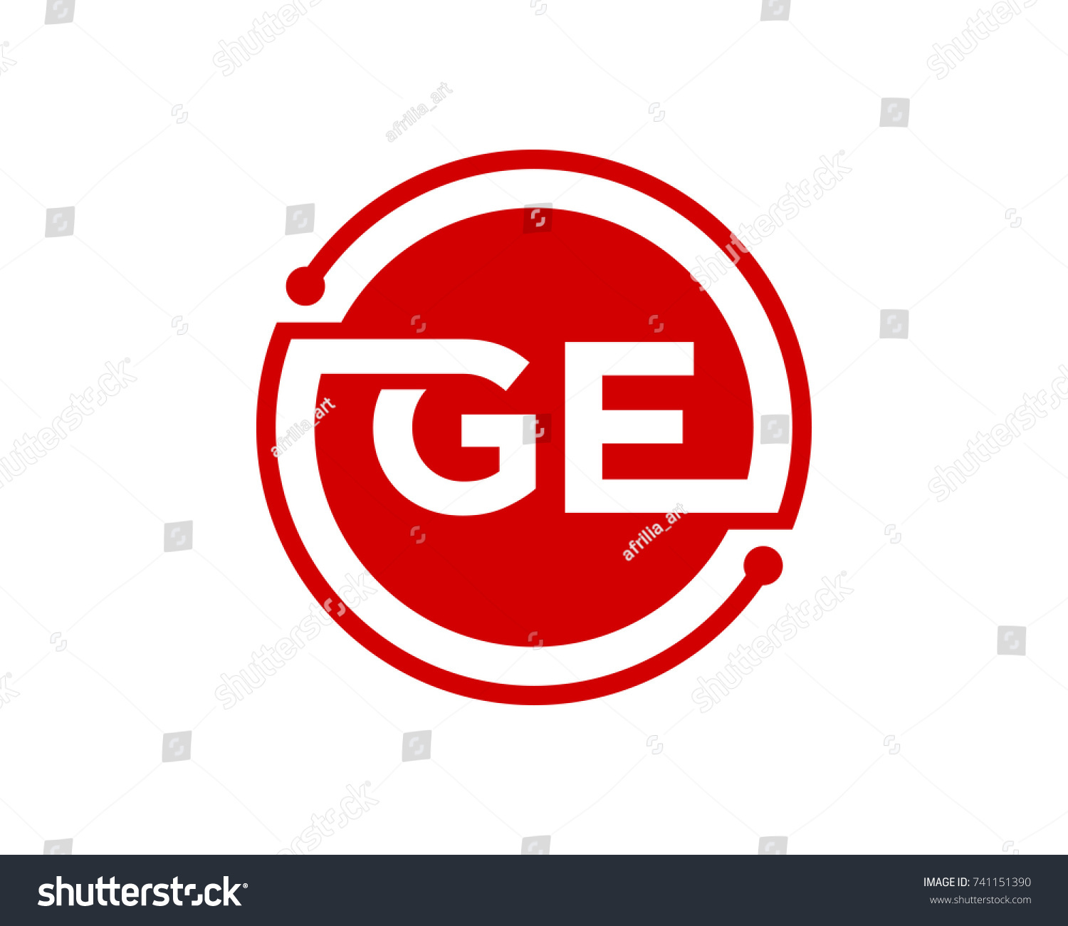 G e initial circle red stock vector 741151390 shutterstock biocorpaavc Gallery