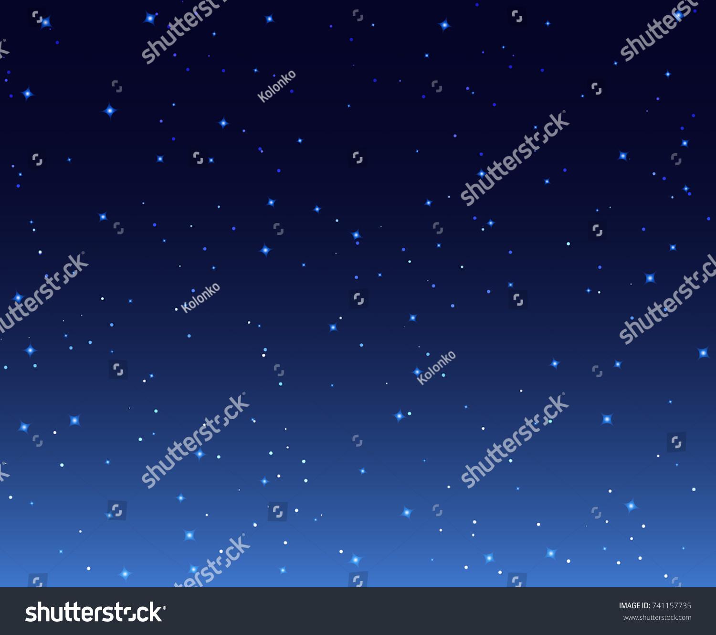 夜星の空の背景イラスト 銀河夜星空の壁紙 のベクター画像素材