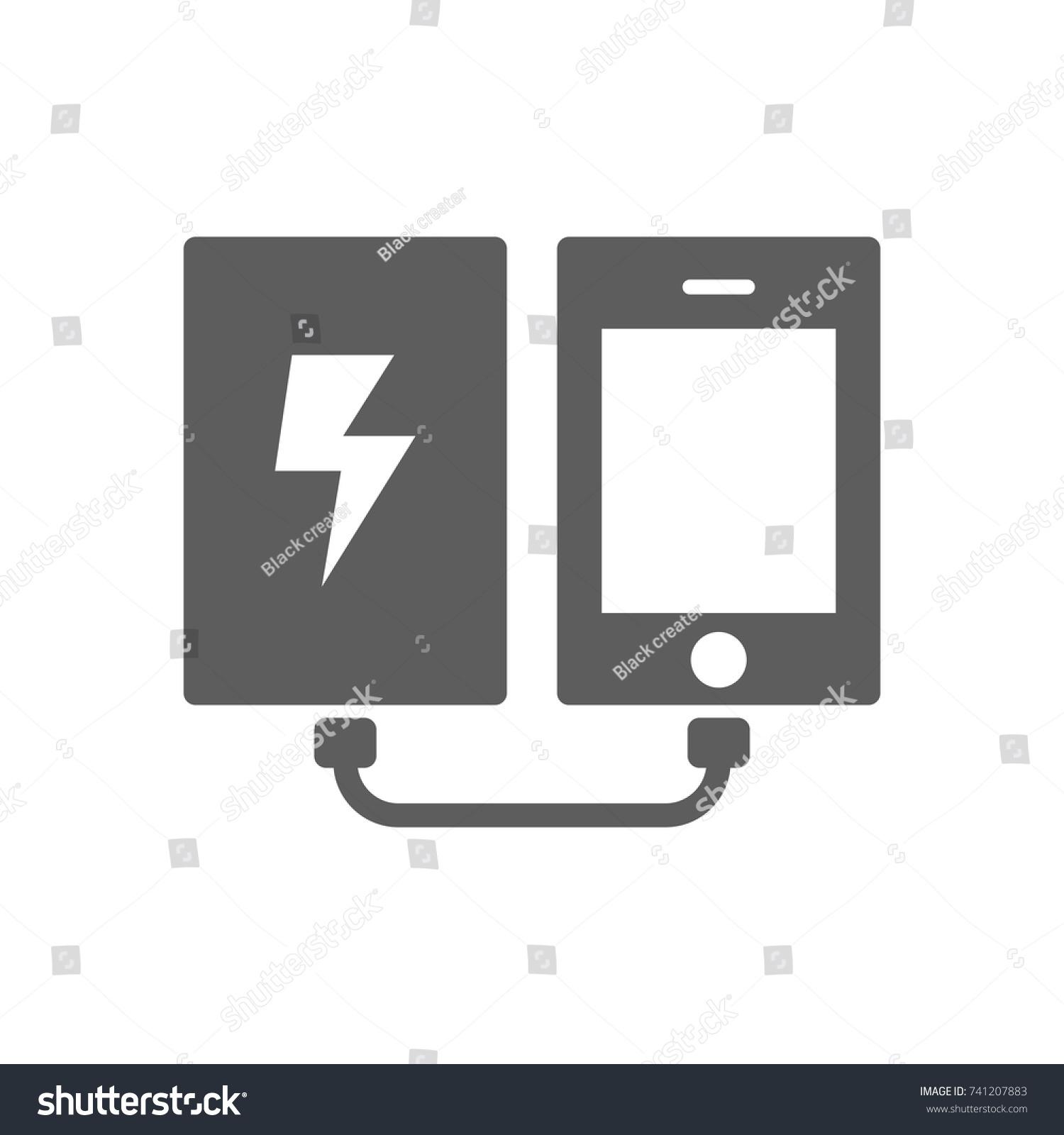 Power Bank Phone Icon Trendy Flat Stock Photo (Photo, Vector ...