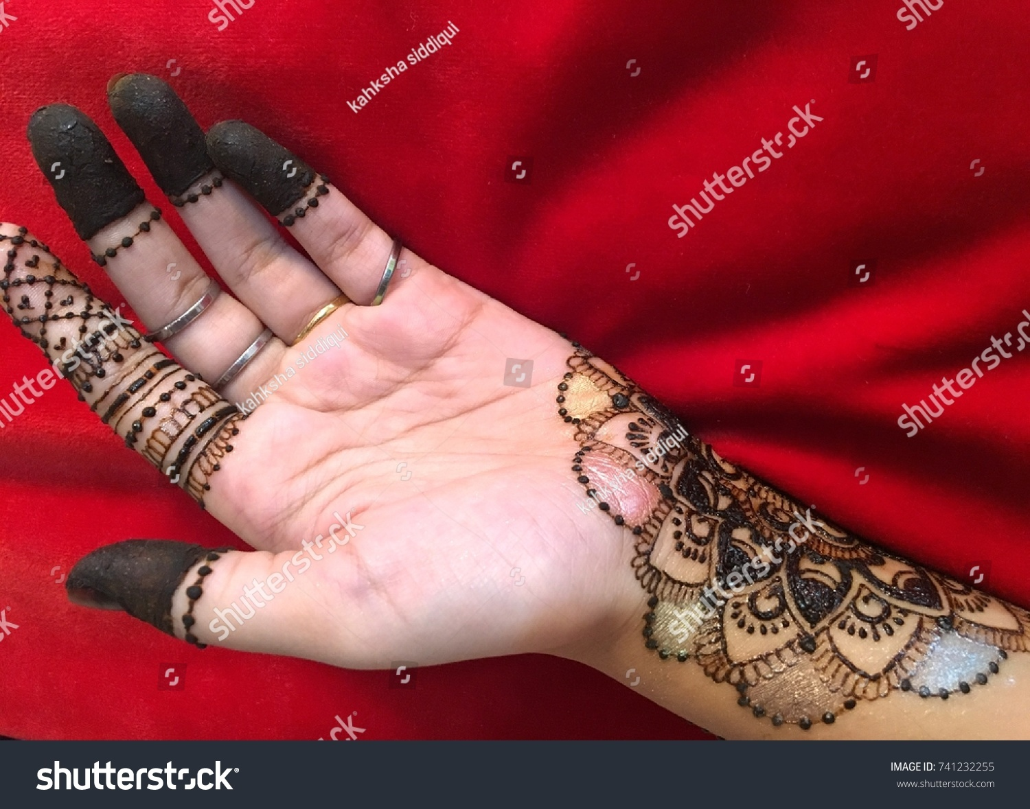 A To Z Mehndi Designs : Beautiful mehndi design on hands blur stock photo royalty free