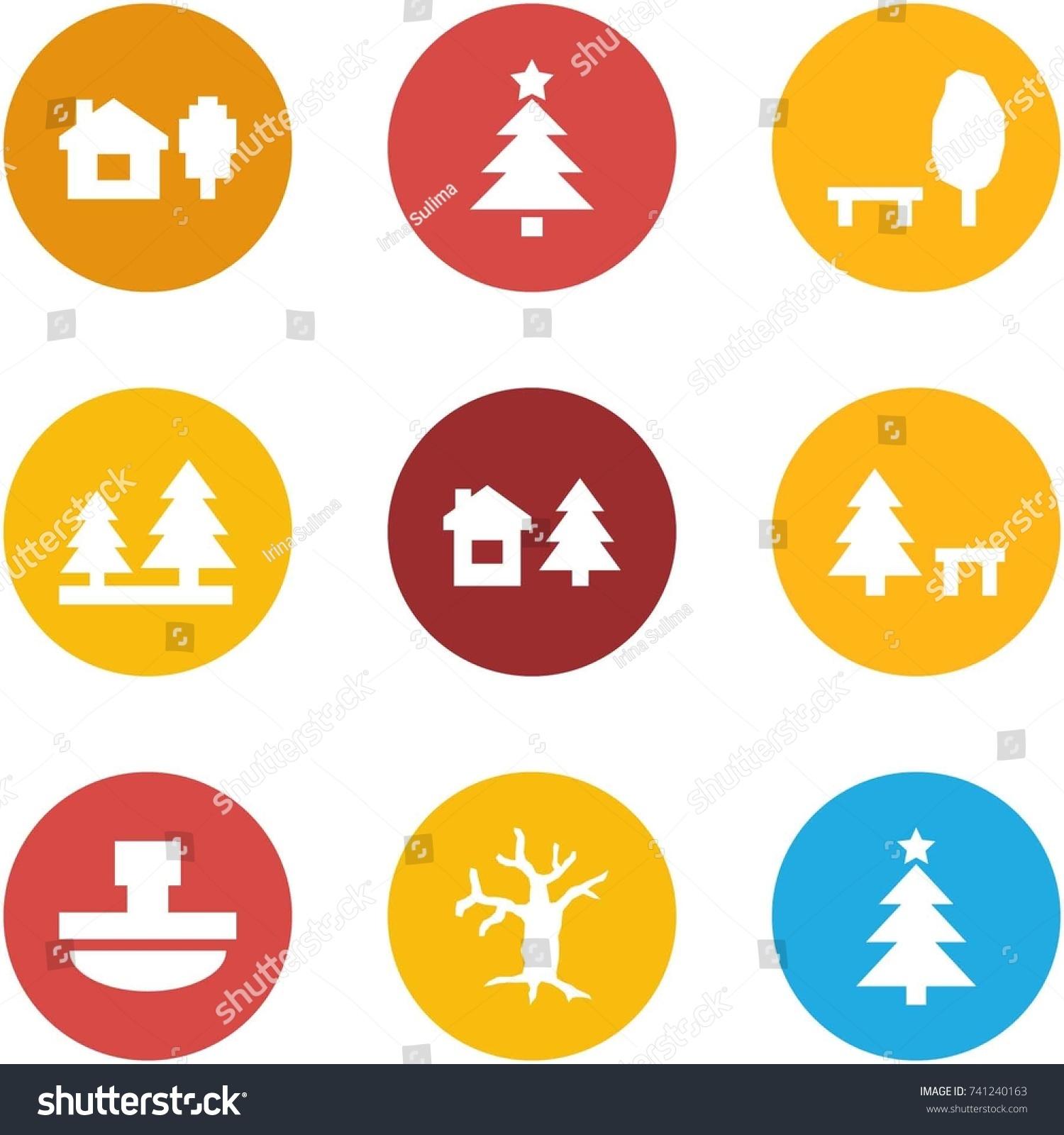 Origami corner style icon set home stock vector 741240163 origami corner style icon set home and tree christmas tree park forest jeuxipadfo Gallery