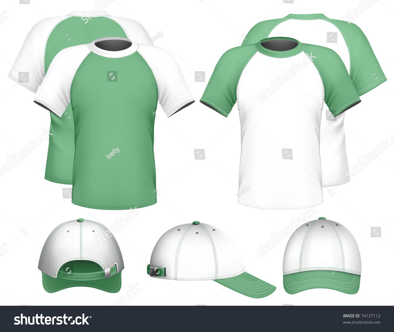 Shirt design illustrator template - Vector Illustration Men S Raglan T Shirt Design Template Baseball