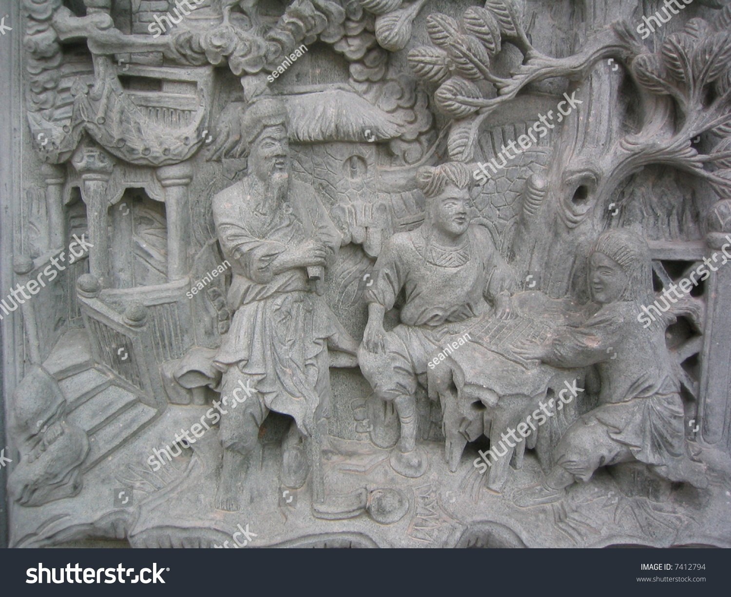 Wall stone carving stock photo  shutterstock