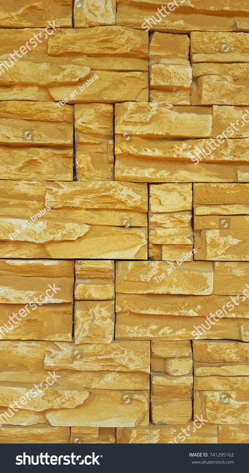 Yellow Stone Mimics Natural Stone Precast Stone Stock Photo (Royalty ...