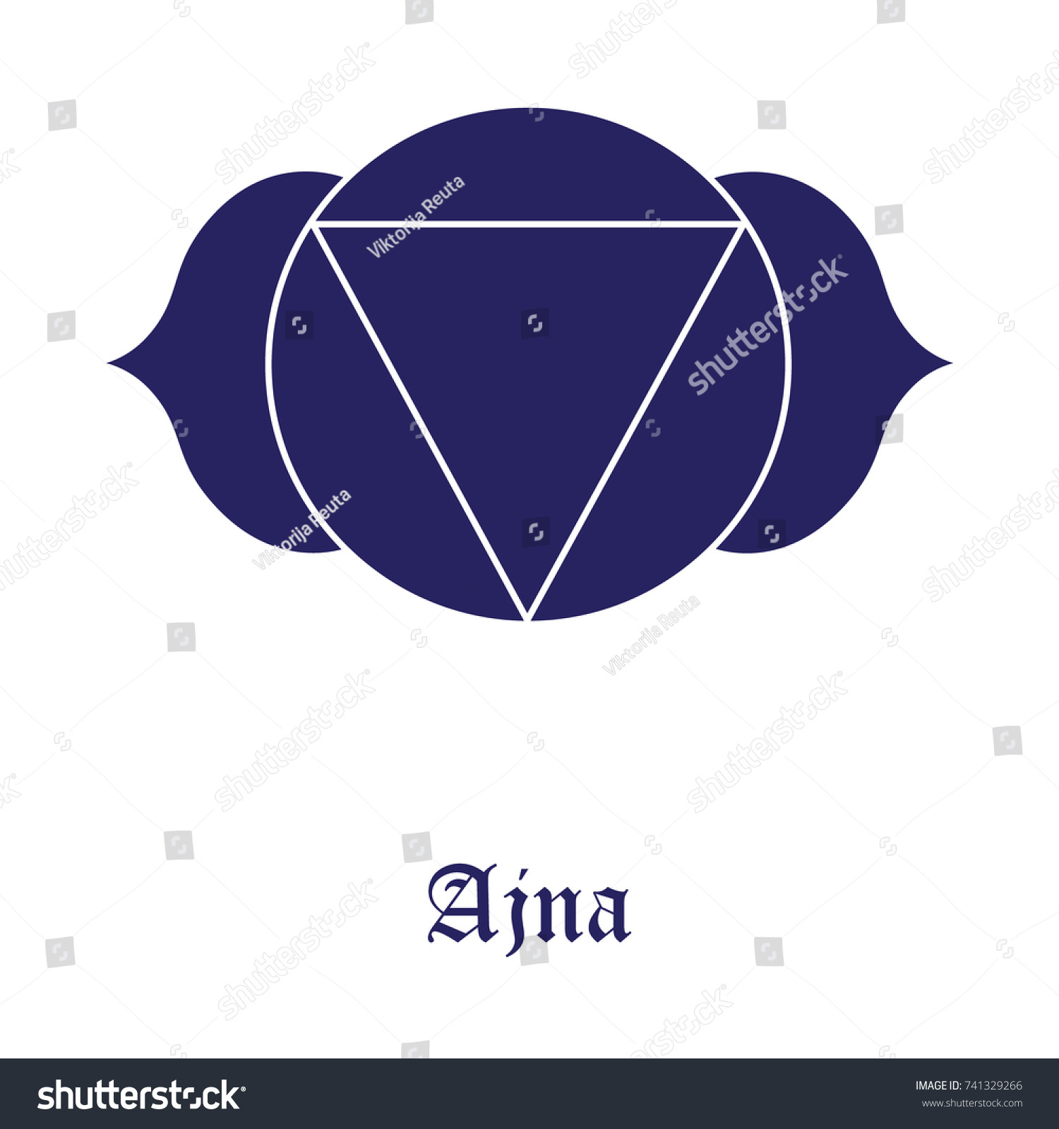 Ajna Chakra Symbol Vector Illustration Third Stock Vector Royalty