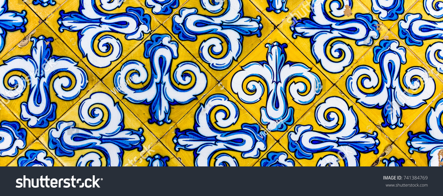 Colorful Vintage Style Ceramic Tile Pattern Stock Photo 741384769 ...