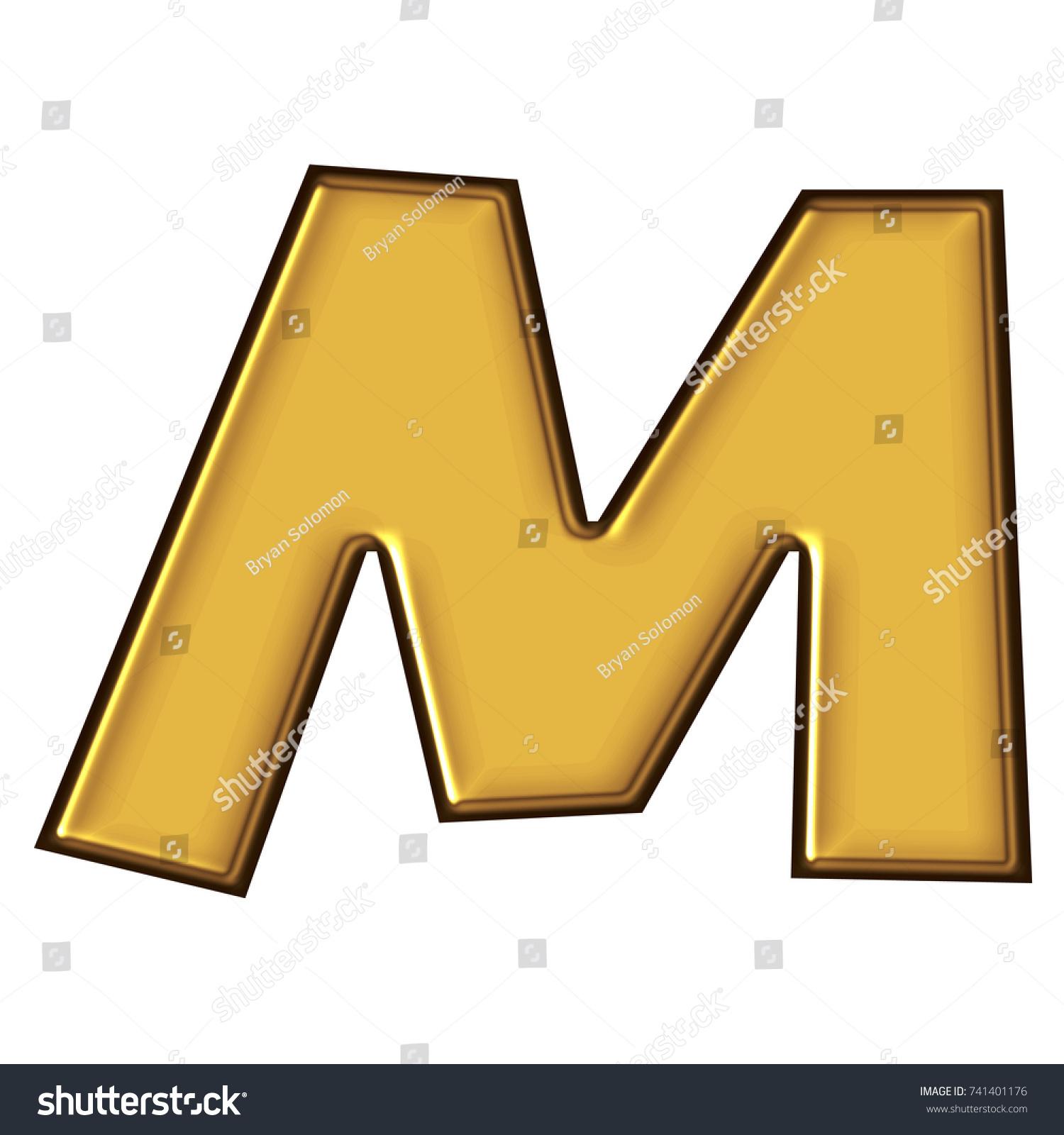 Rich Golden Color Metal Block Style Stock Illustration 741401176