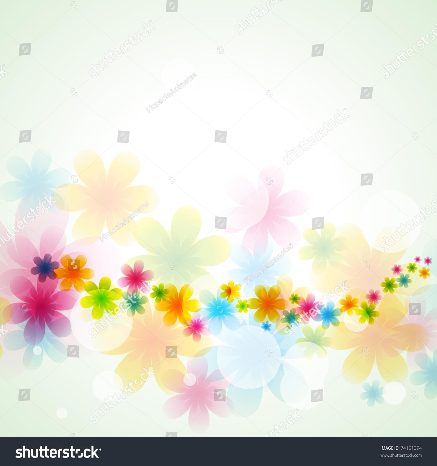 Beautiful Flower Vector Background Illustration - 74151394 ...