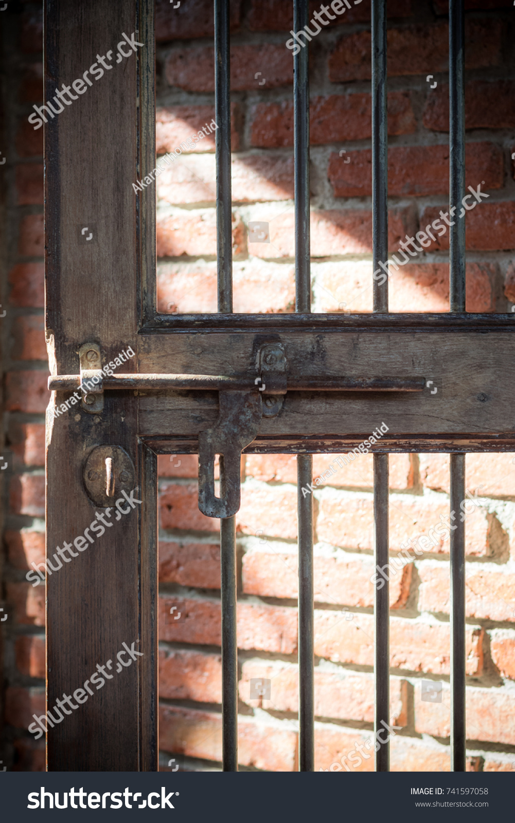 Old door bolt with rust on in Asian style Old rusted iron cage door Vintage & Old Door Bolt Rust On Asian Stock Photo (100% Legal Protection ...
