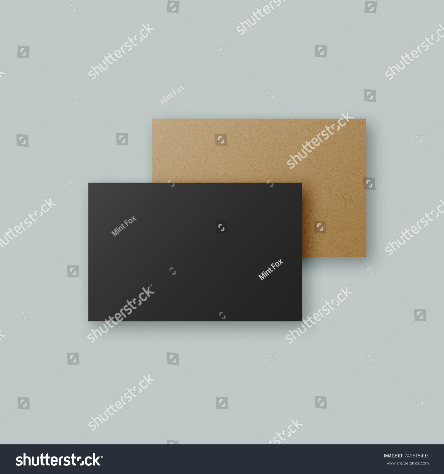 Black Brown Kraft Paper Vector Business Stock Vector (2018 ...