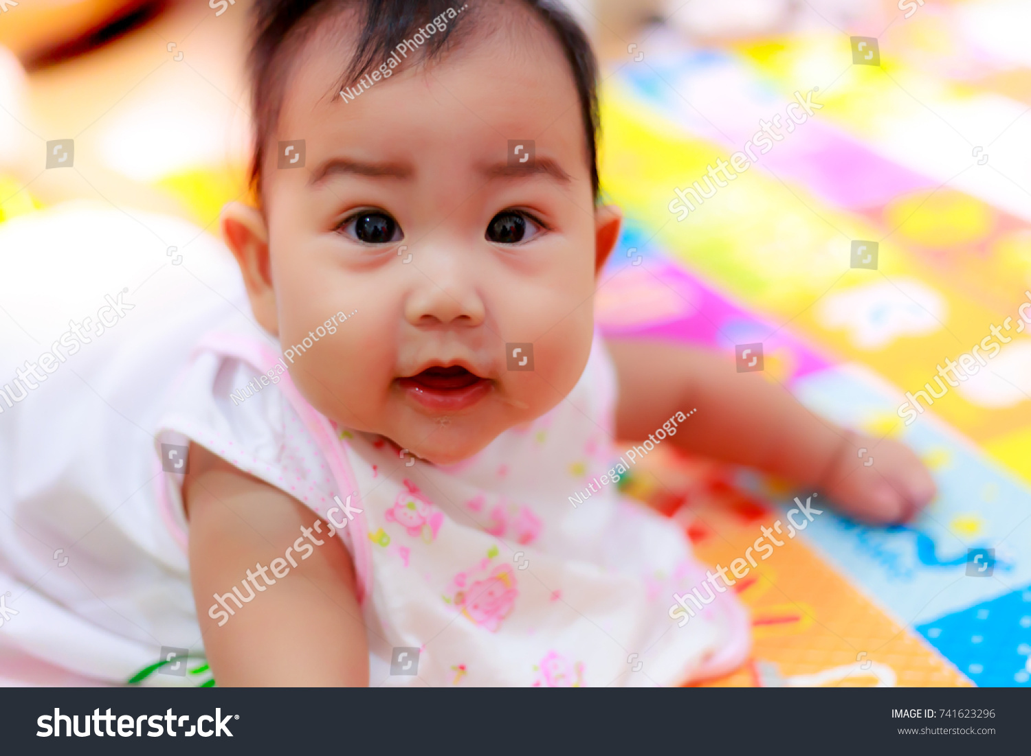 portrait lovely baby beautiful baby girl stock photo (royalty free