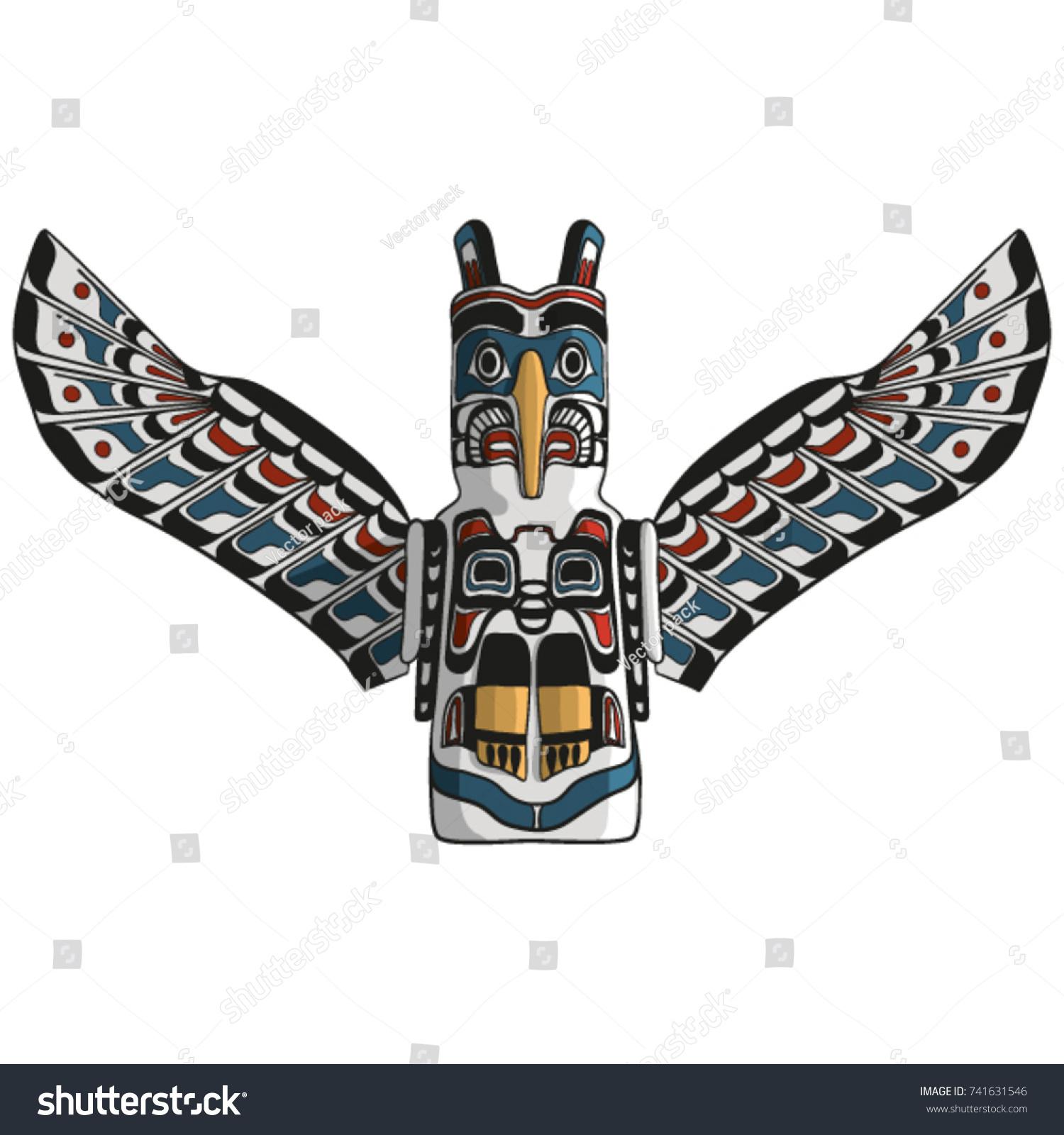 Native american eagle totem vector traditional stock vector native american eagle totem vector traditional thunder bird icon american mythology symbol biocorpaavc Gallery