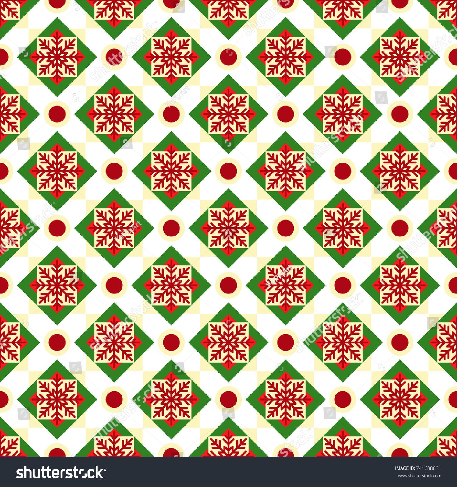 Christmas Geometric Nordic Seamless Vector Pattern Stock Vector ...