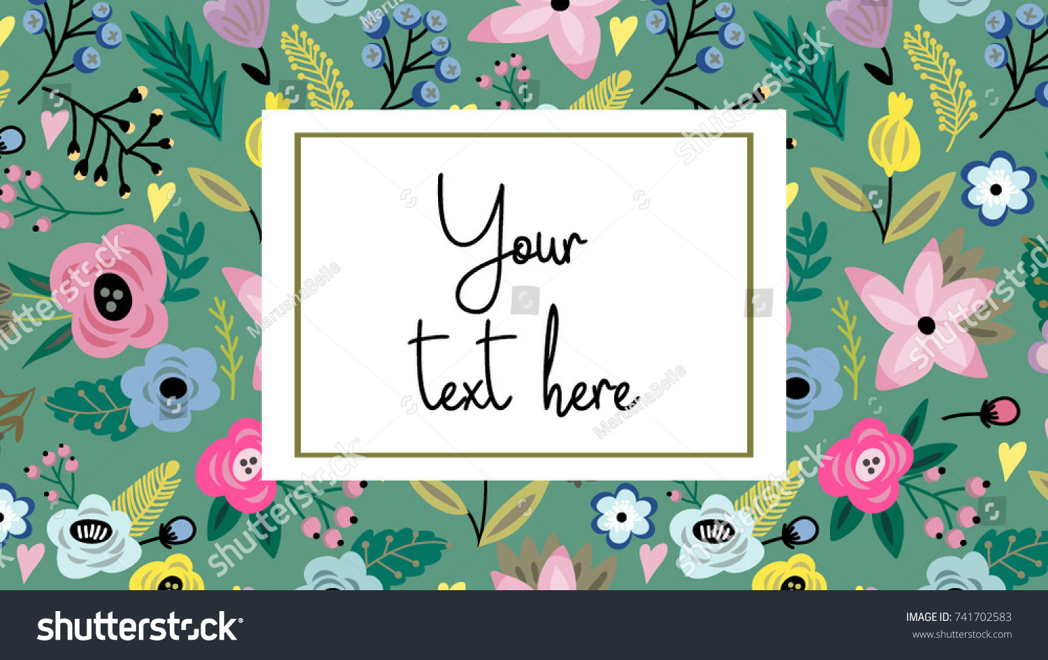 Vector Adorable Template Lovely Background Can Stock Vector ...