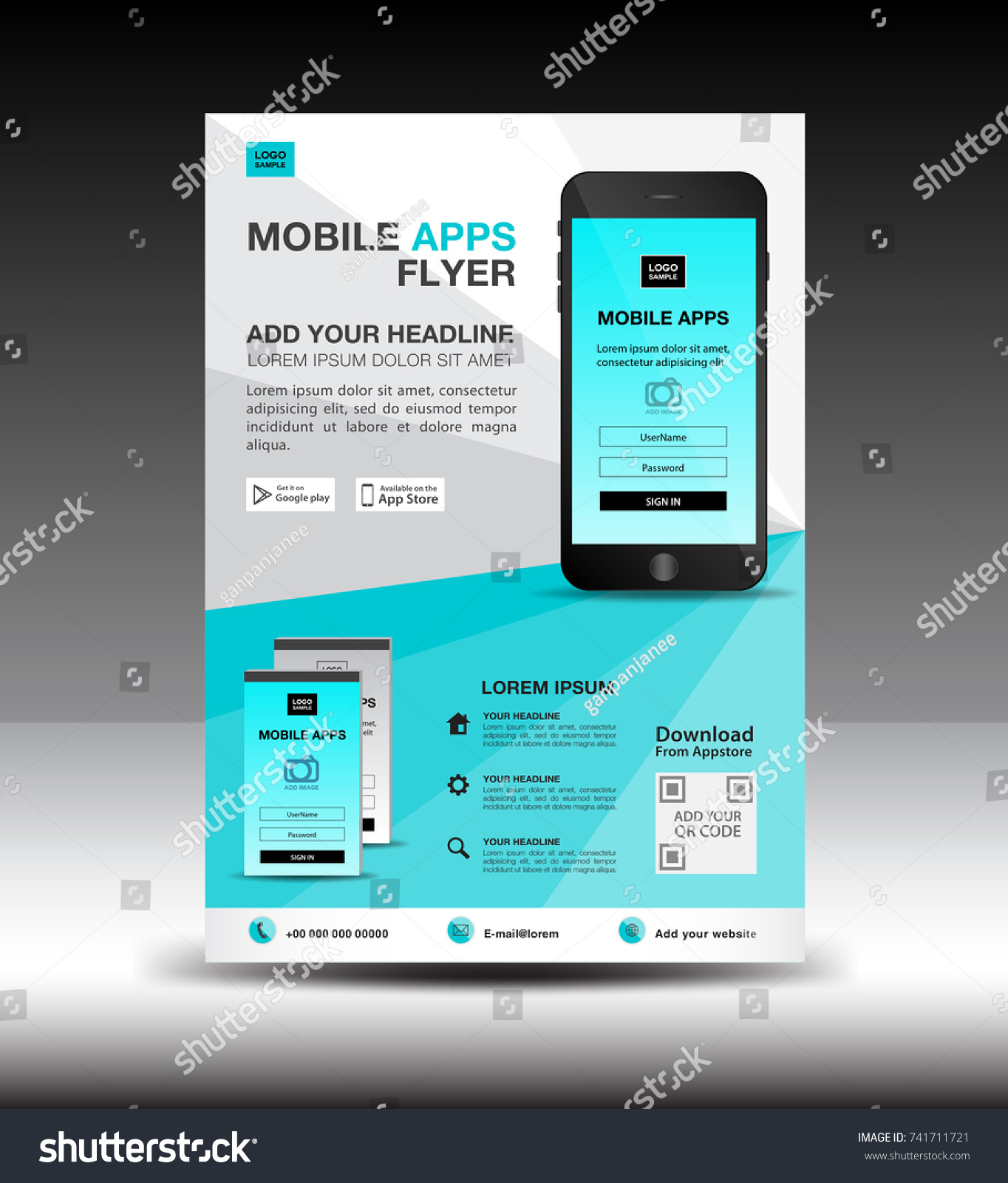 website advertisement template