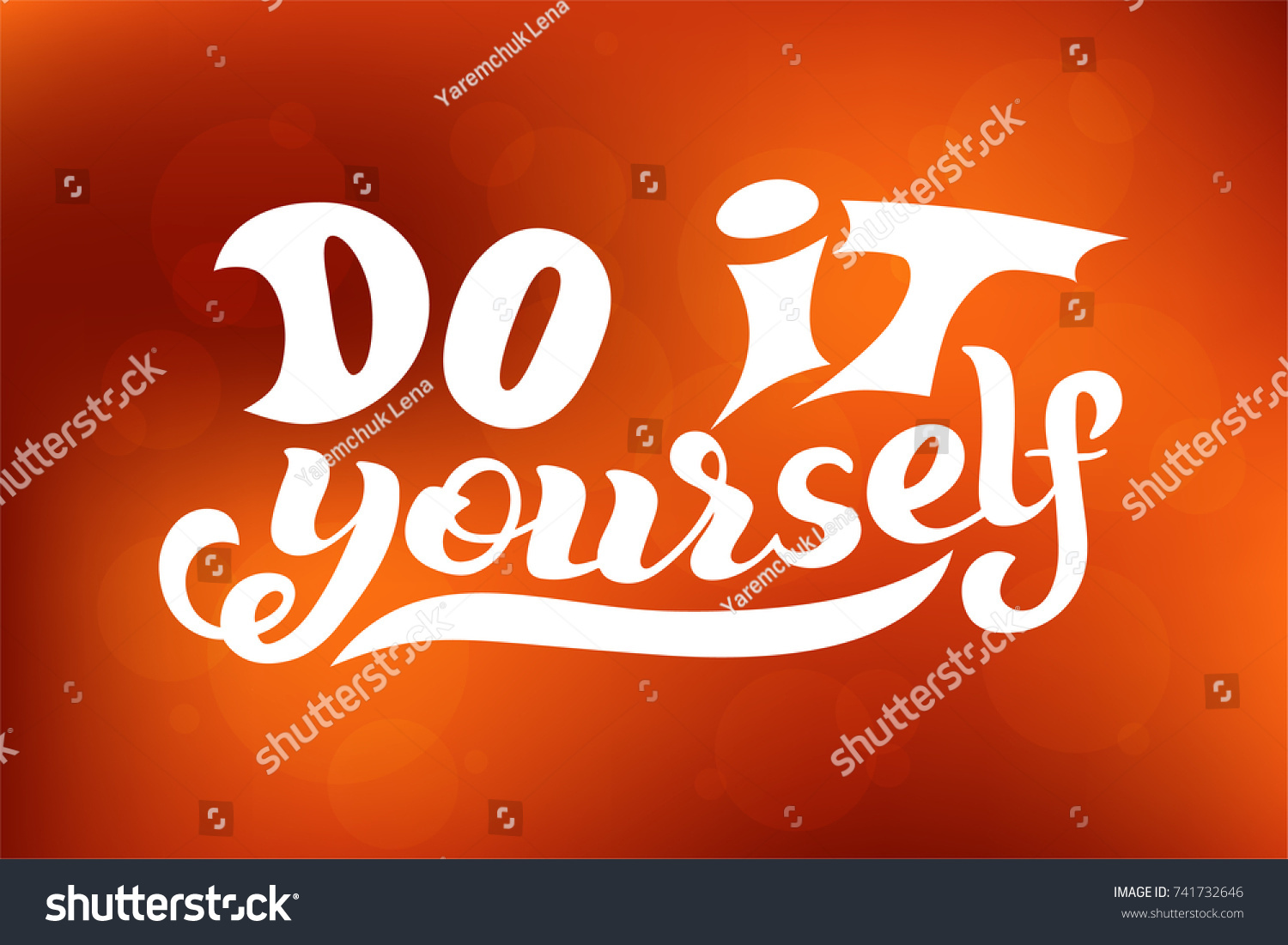 Hand lettering phrase do yourself diy stock vector 741732646 hand lettering phrase do it yourself diy inspirational quote text background solutioingenieria Gallery